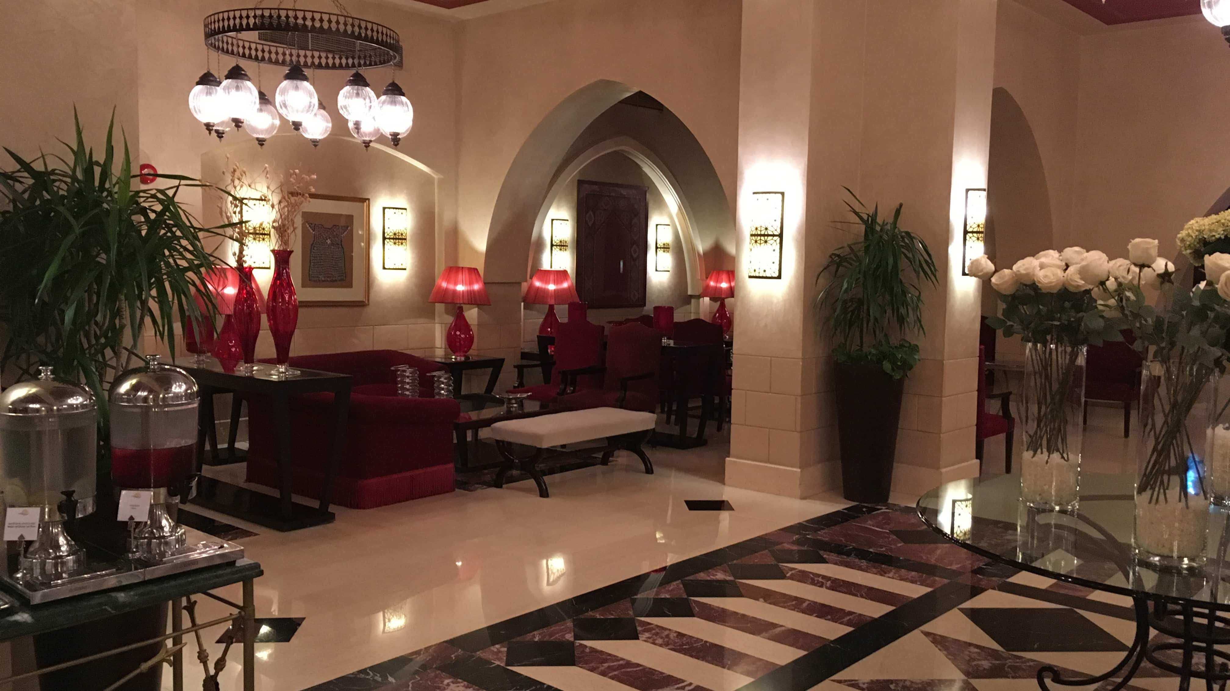 Eingangshalle des Hotels in Ägypten