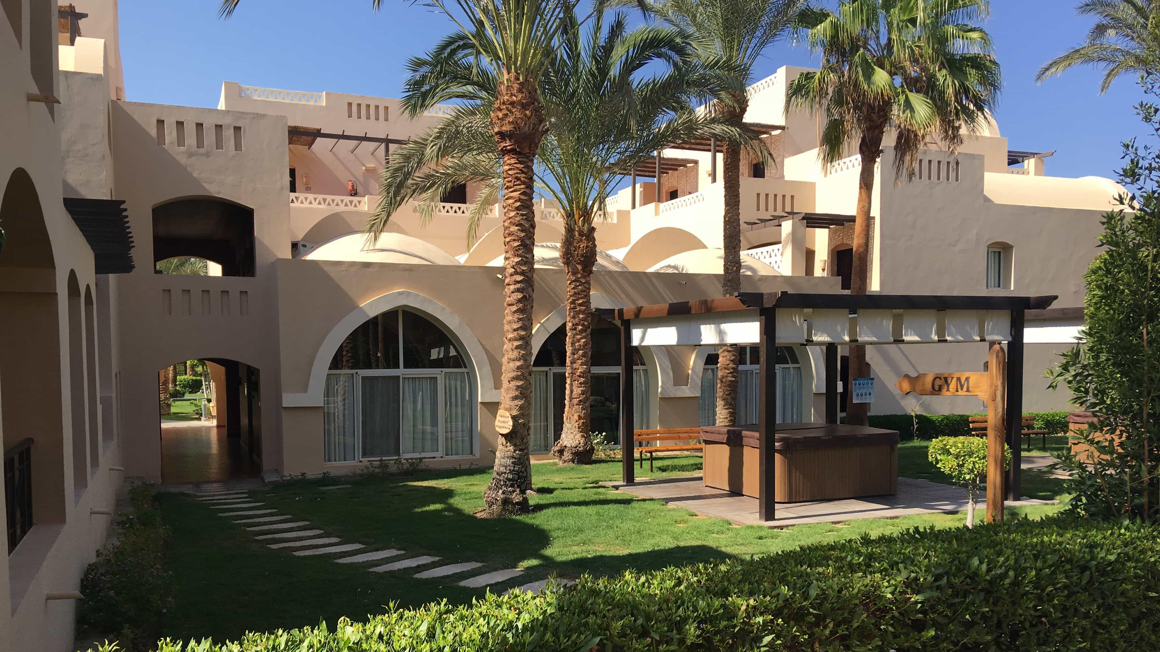 Hotelgarten in Ägypten