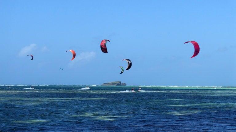 Kitesurfen in Watamu in Kenia Afrika