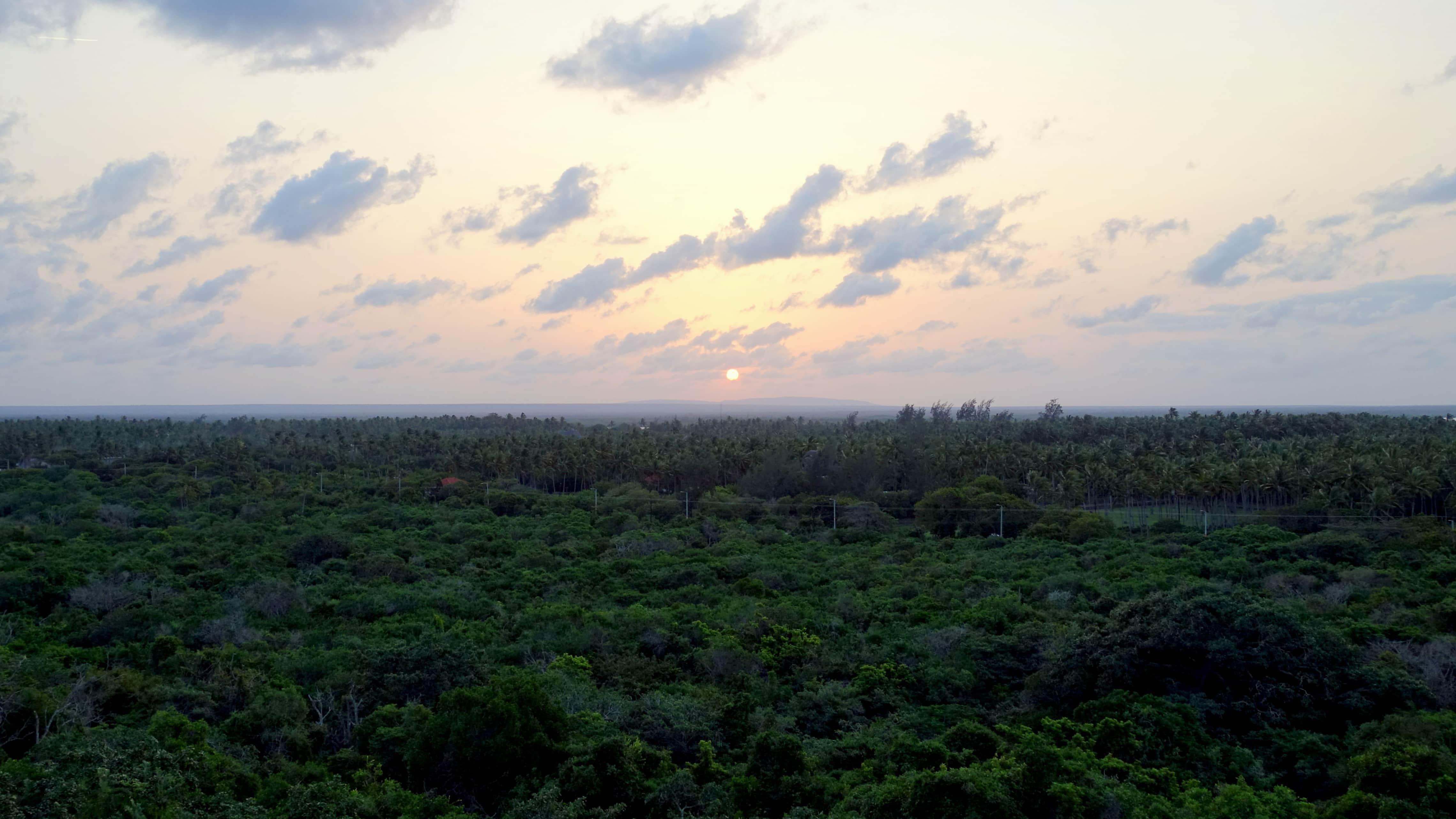 Sonnenuntergang in Watamu in Kenia Afrika