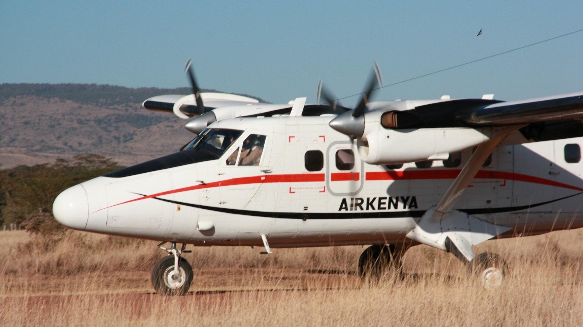 Eine Propellermaschine von Kenya Air