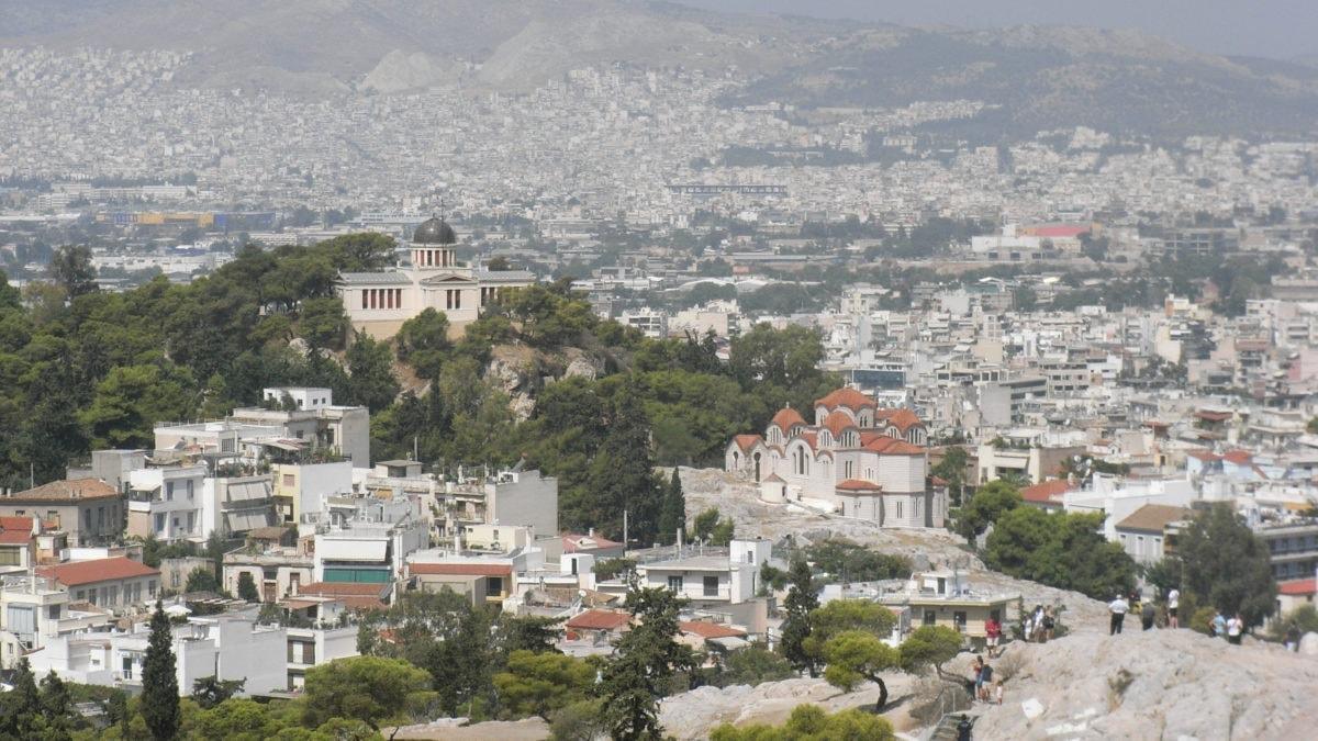 Ausblick über Athen von der Akropolis