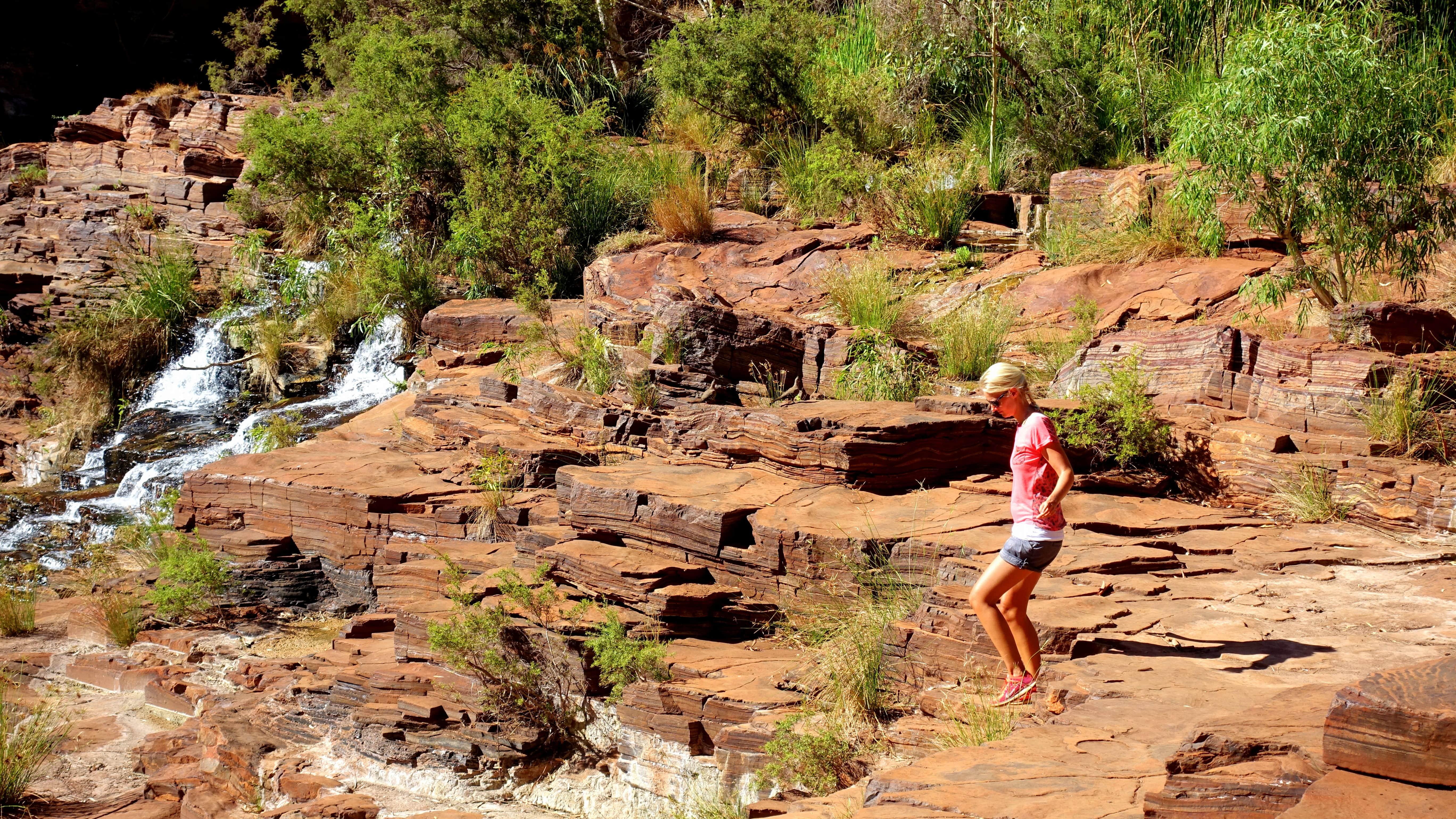 Birte im Karijini Nationalpark an Australiens Westküste