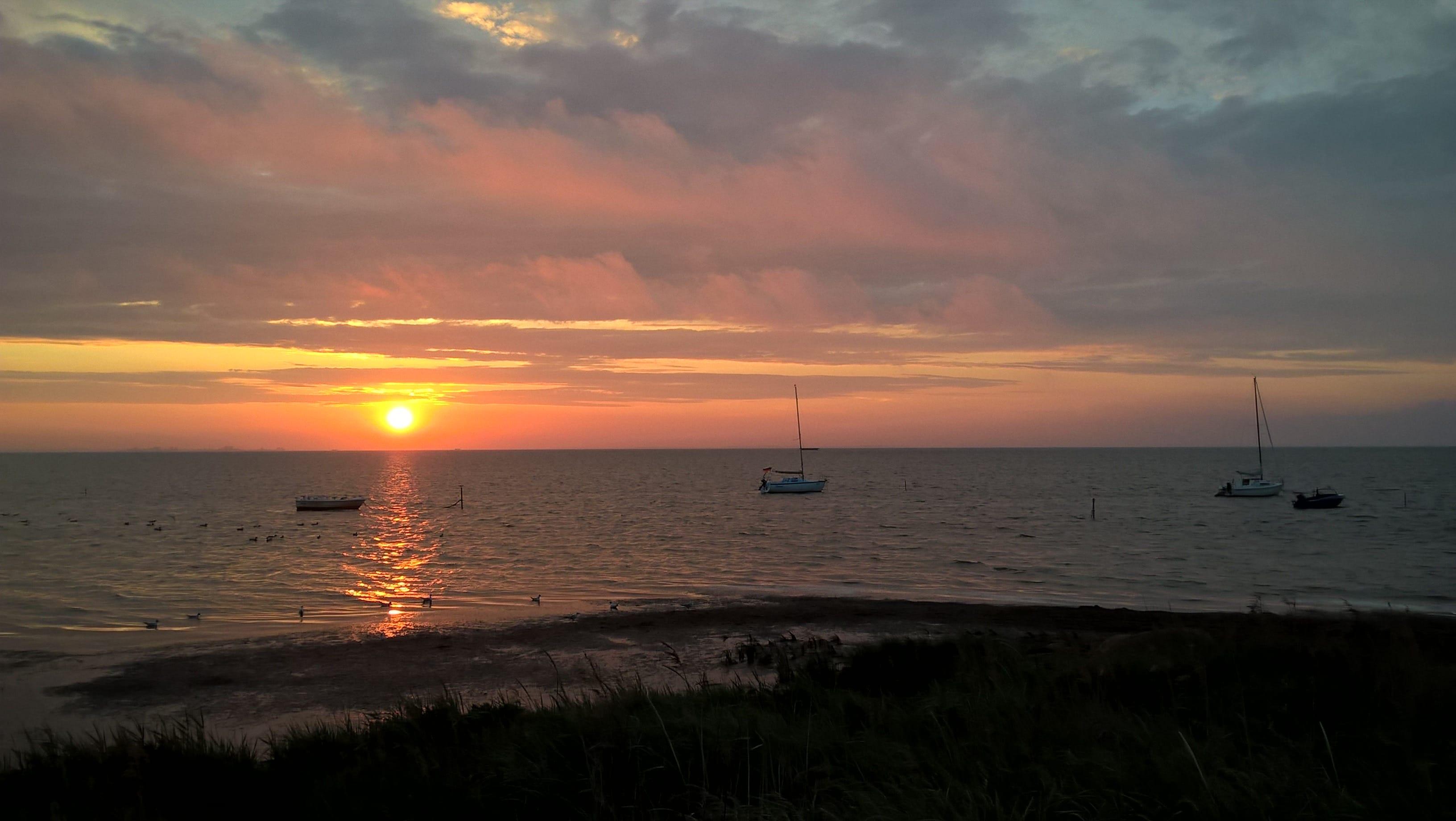 Sonnenuntergang bei Boardway in Loissin