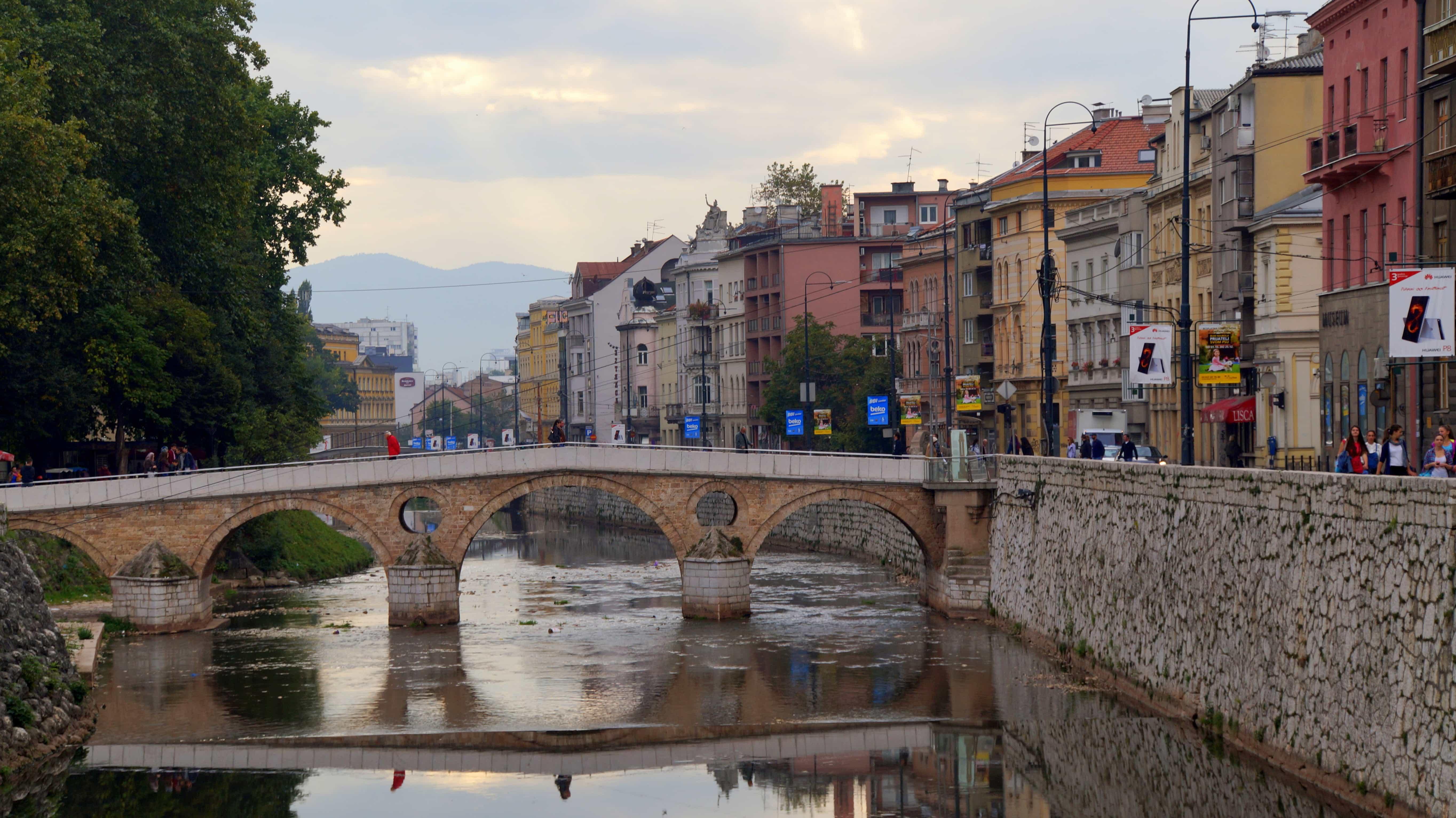 Brücke in Sarajevo in Bosnien Herzegowina
