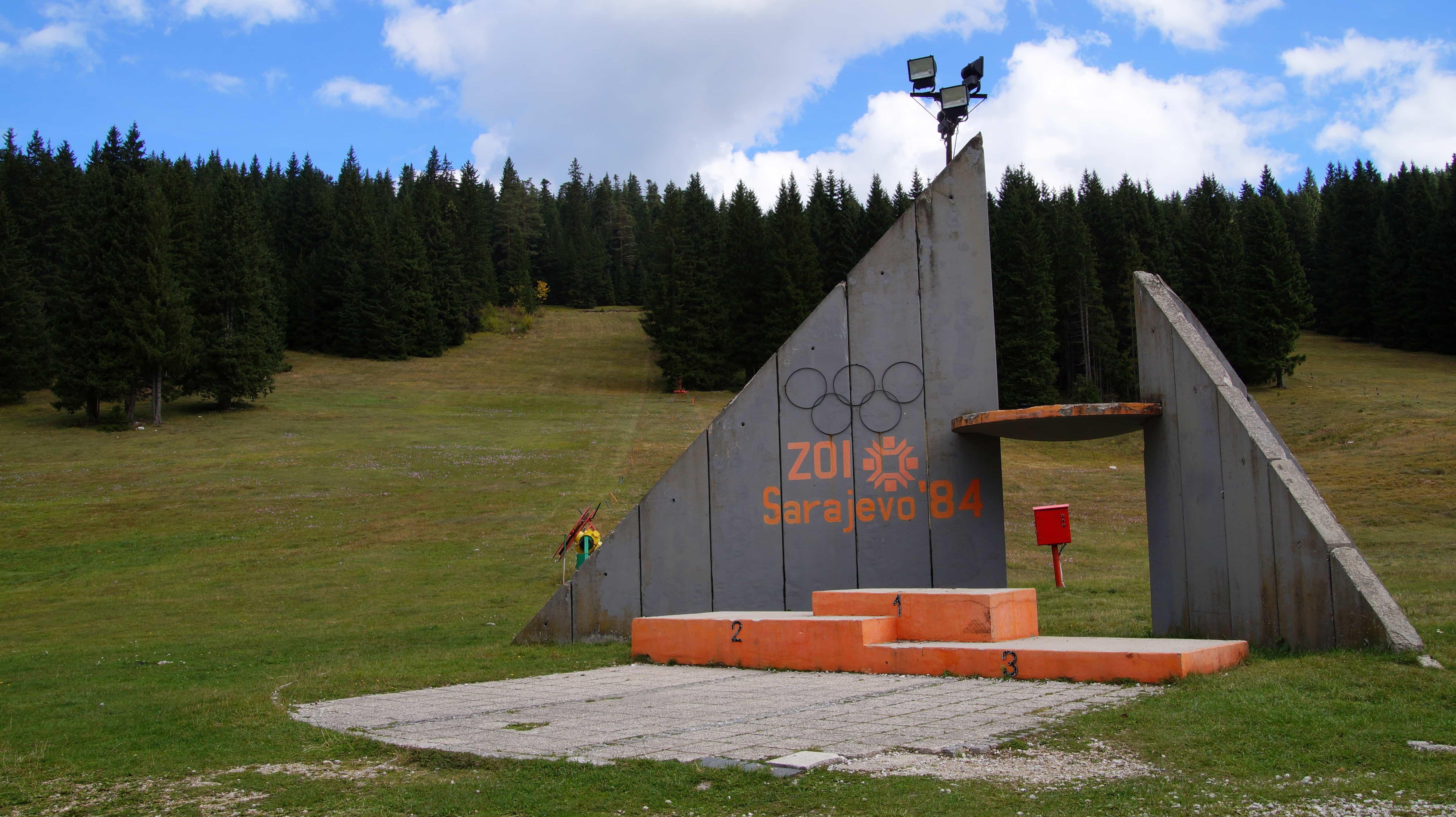Denkmahl in Sarajevo in Bosnien Herzegowina