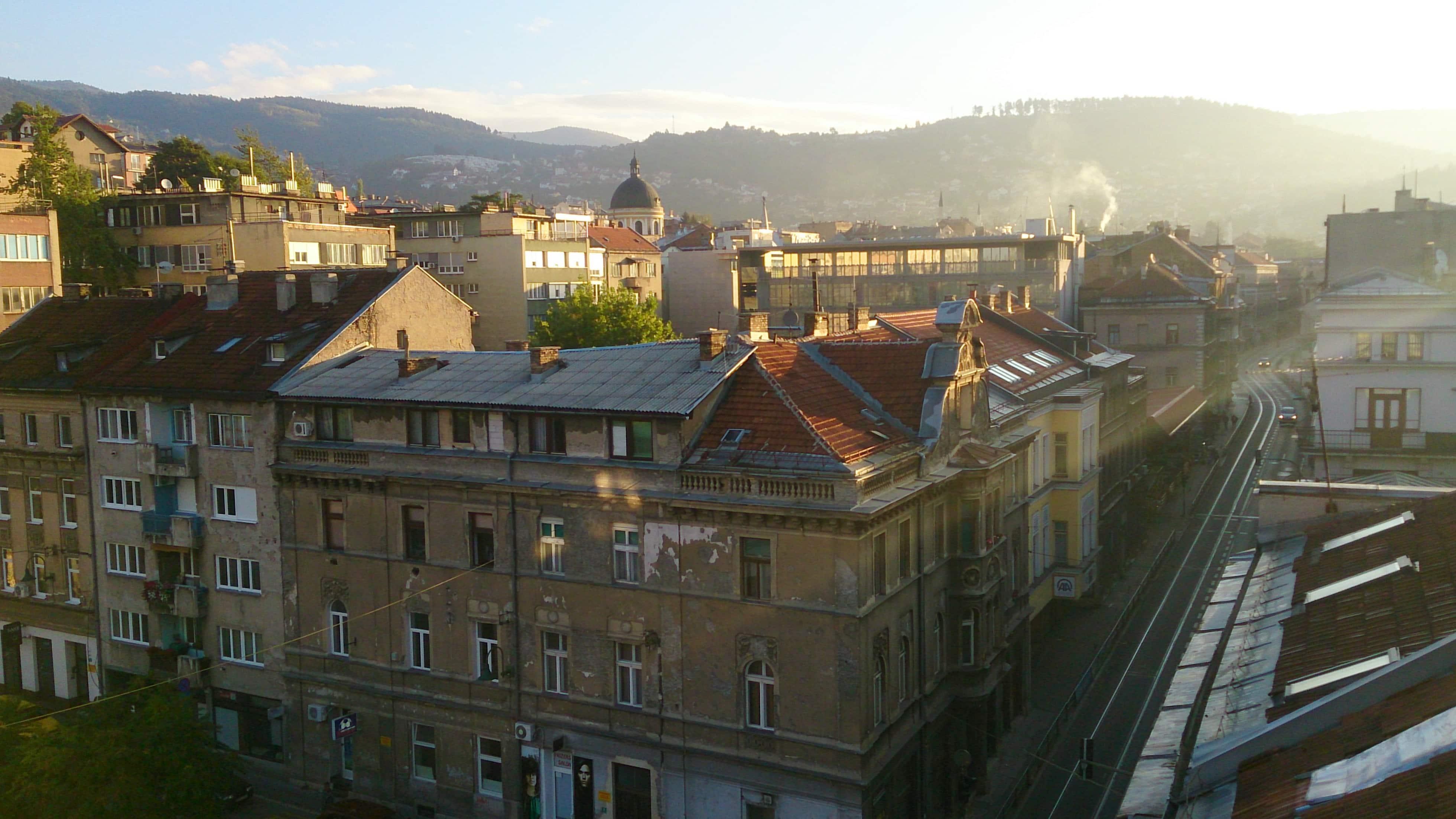 Sonnenaufgang in Sarajevo in Bosnien Herzegowina