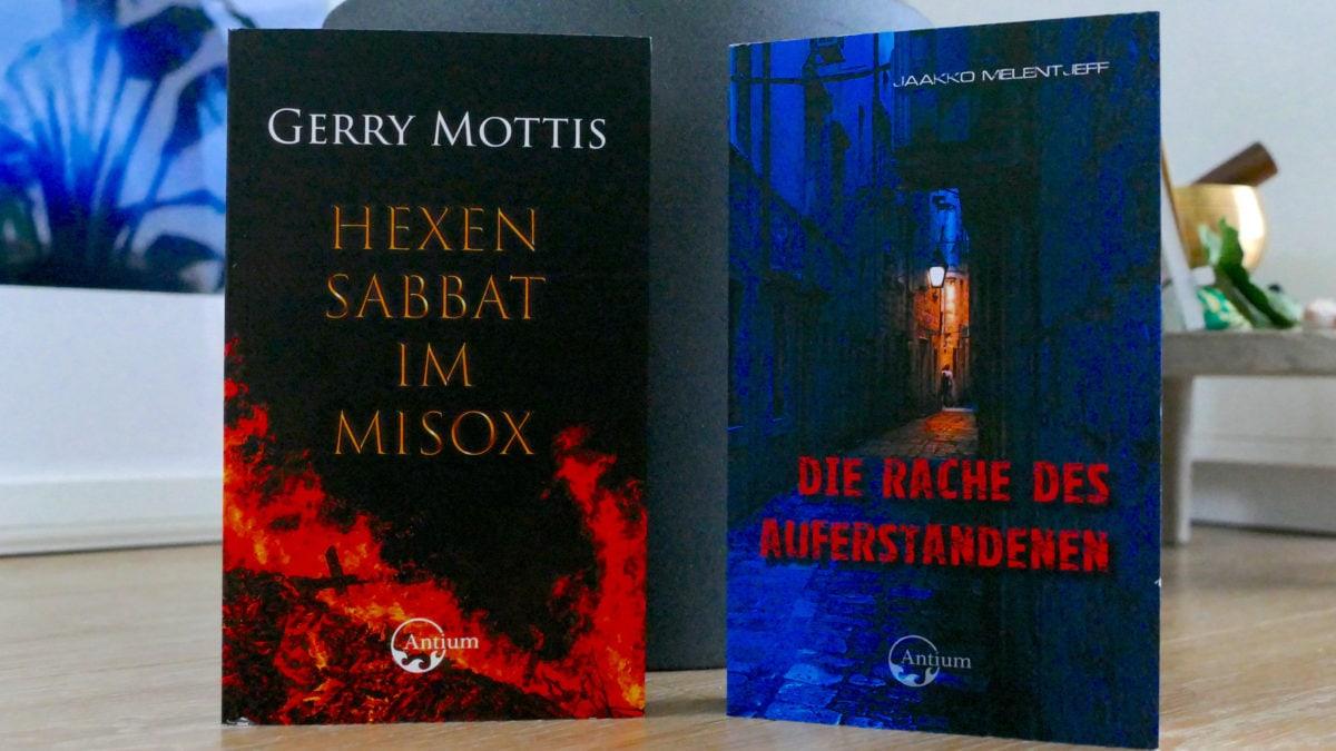 Hexensabbat im Misox und Die Rache der Auferstandenen sind packende Krimis, die im Antium Verlag erschienen sind.
