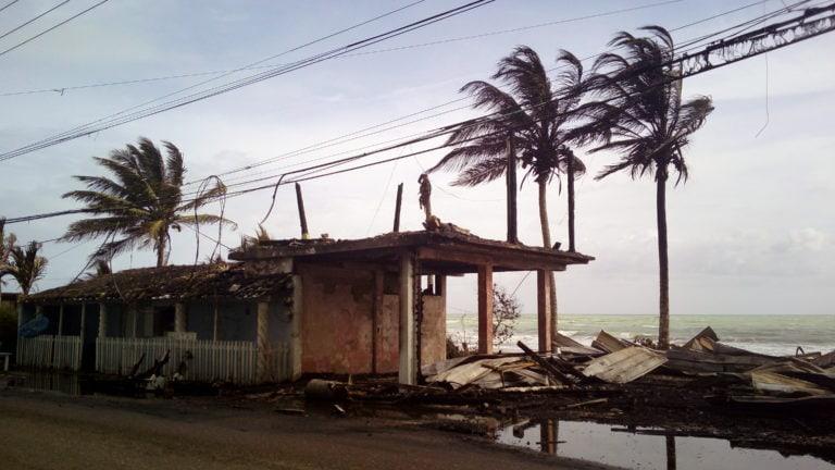 Im April ist das Beach Hostel in Cabarete komplett abgebrannt.