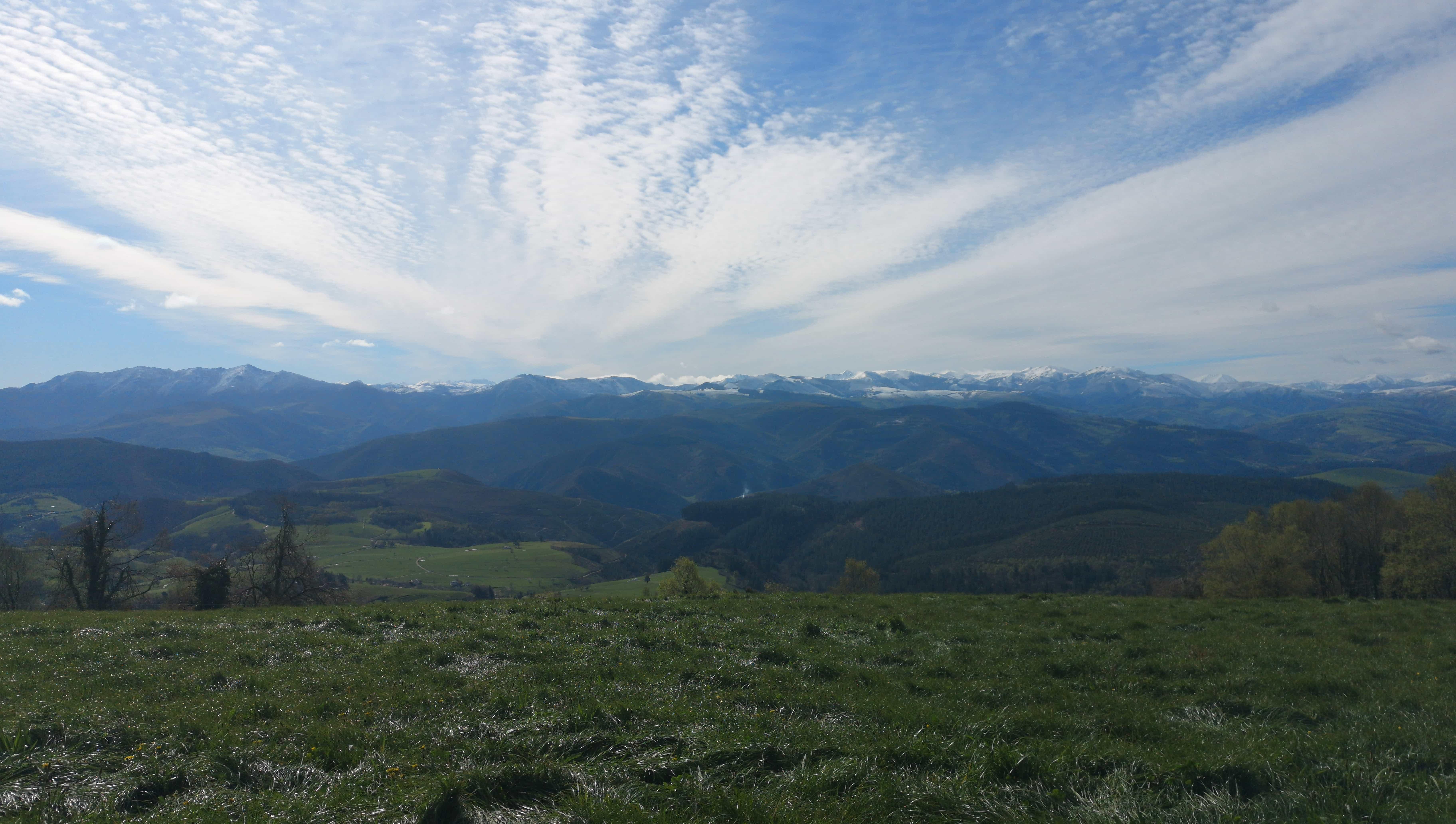 Aussicht auf dem Camino Primitivo auf die Berge