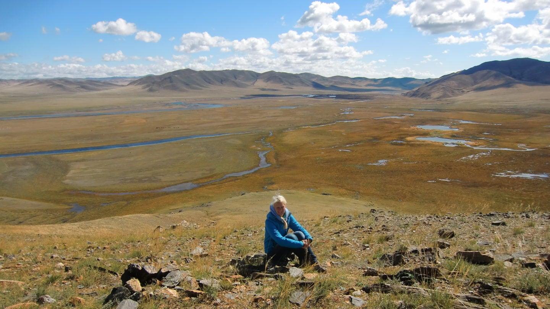 Birte in der Steppe in der Mongolei