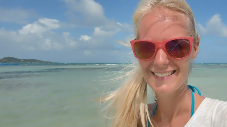 Birte als digitale Nomadin auf Martinique
