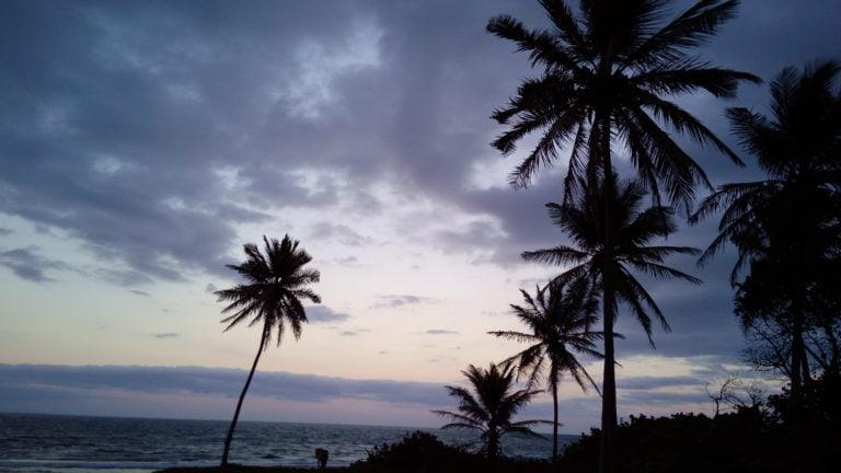 Sonnenuntergang am Meer vor Casa Feliz in Cabarete in der Dominikanischen Republik