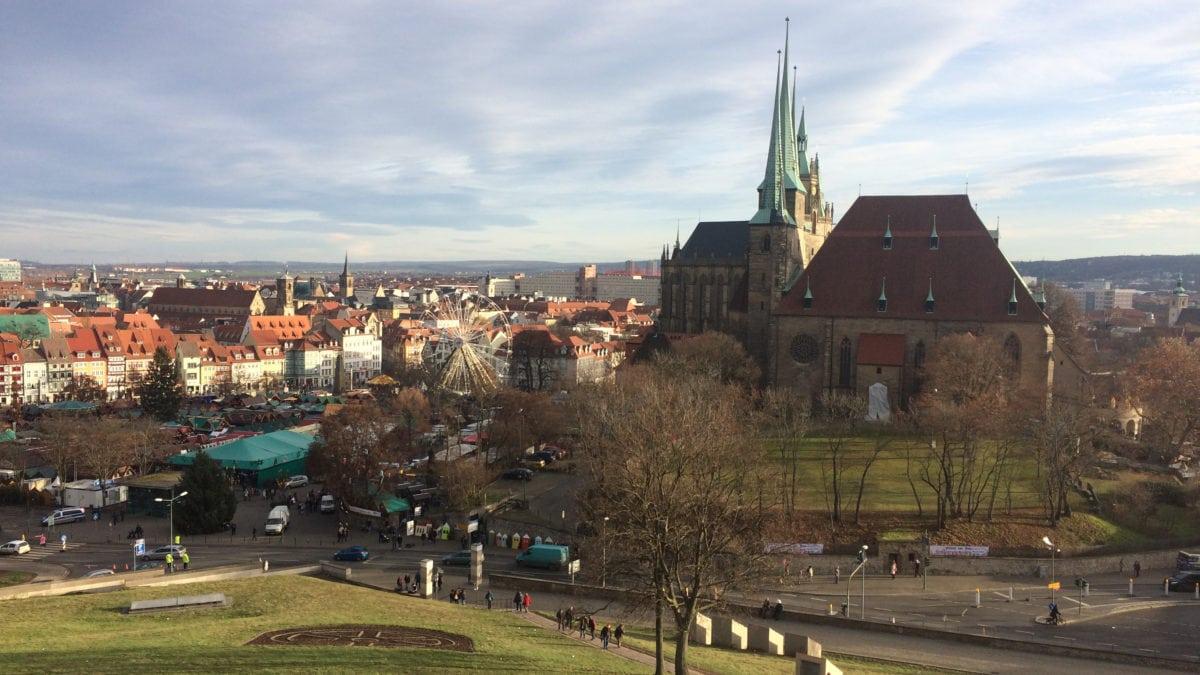 Ausblick vom Petersberg in Erfurt