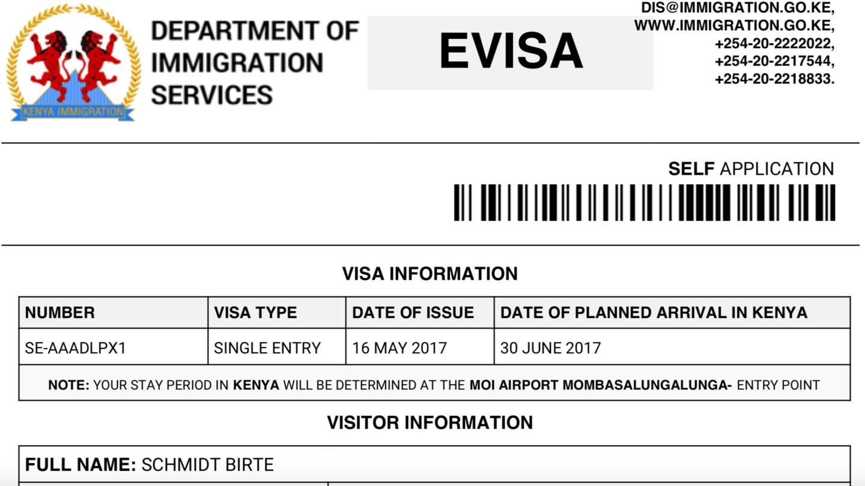 Das eVisa Kenia kann online beantragt werden