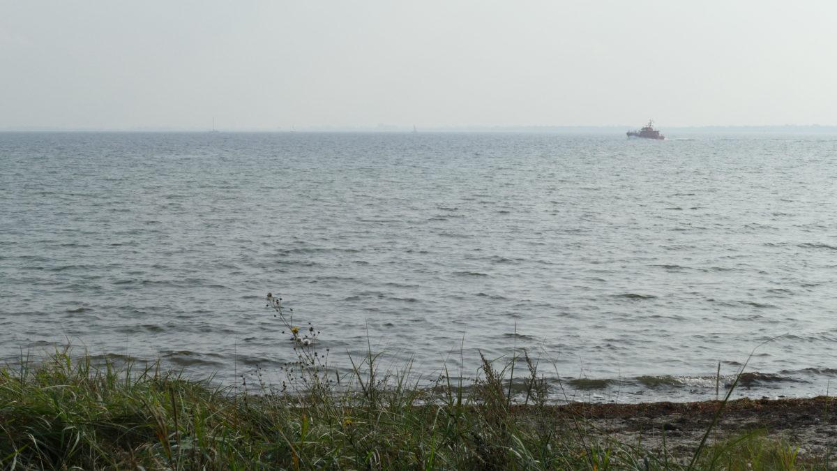 Ein Schiff auf der Förde