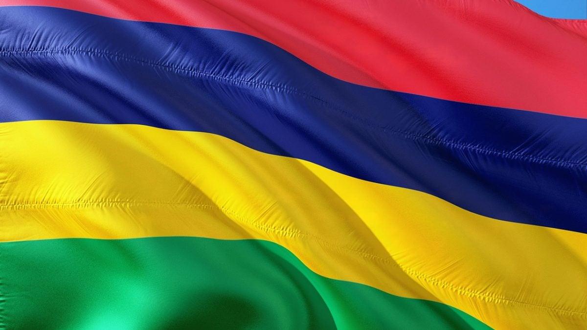 Die Flagge von Mauritius