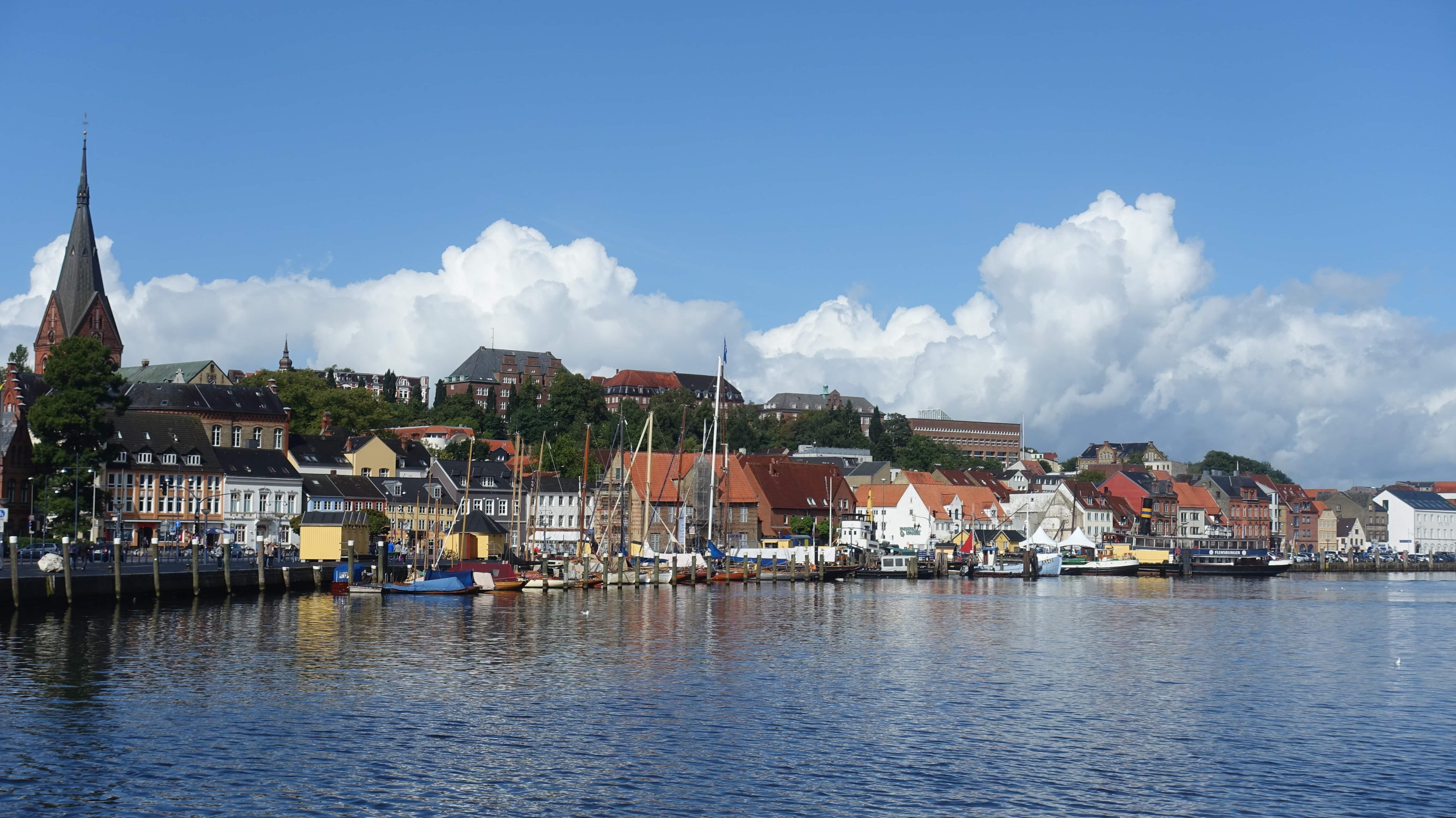 Blick von der Flensburger Hafenspitze