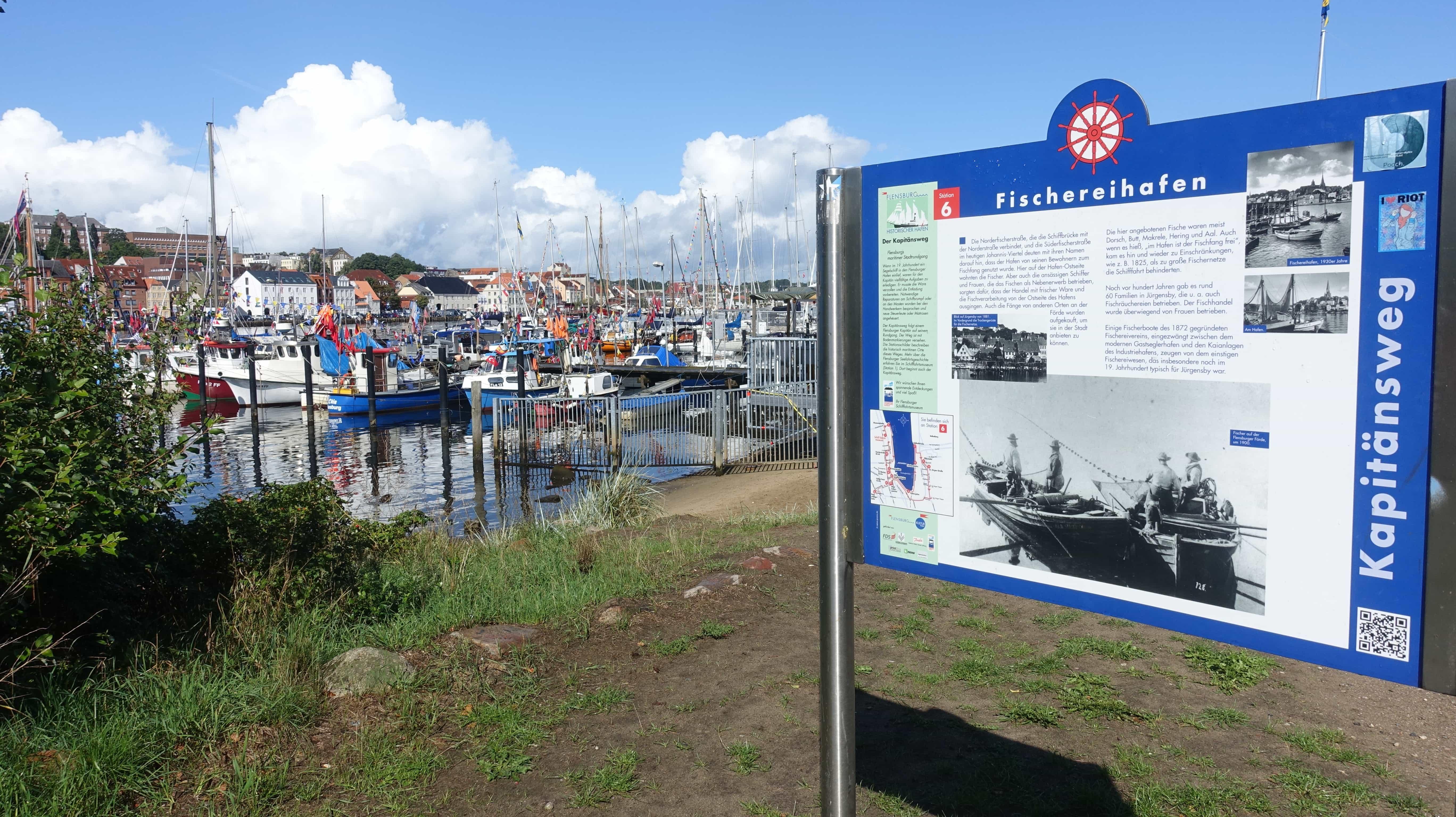 Der Fischereihafen in Flensburg