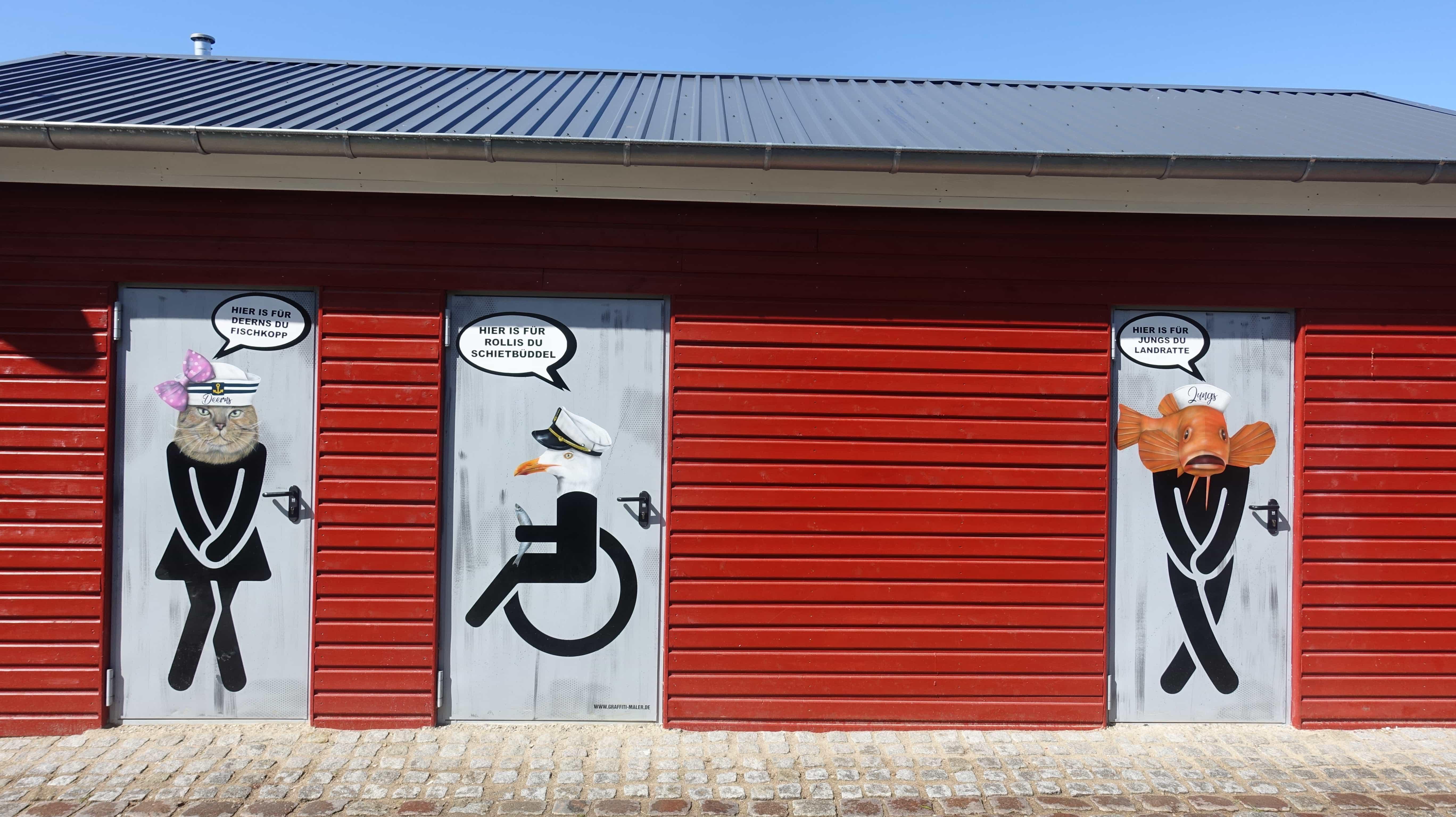 Öffentliche Toiletten am Kapitänsweg in Flensburg