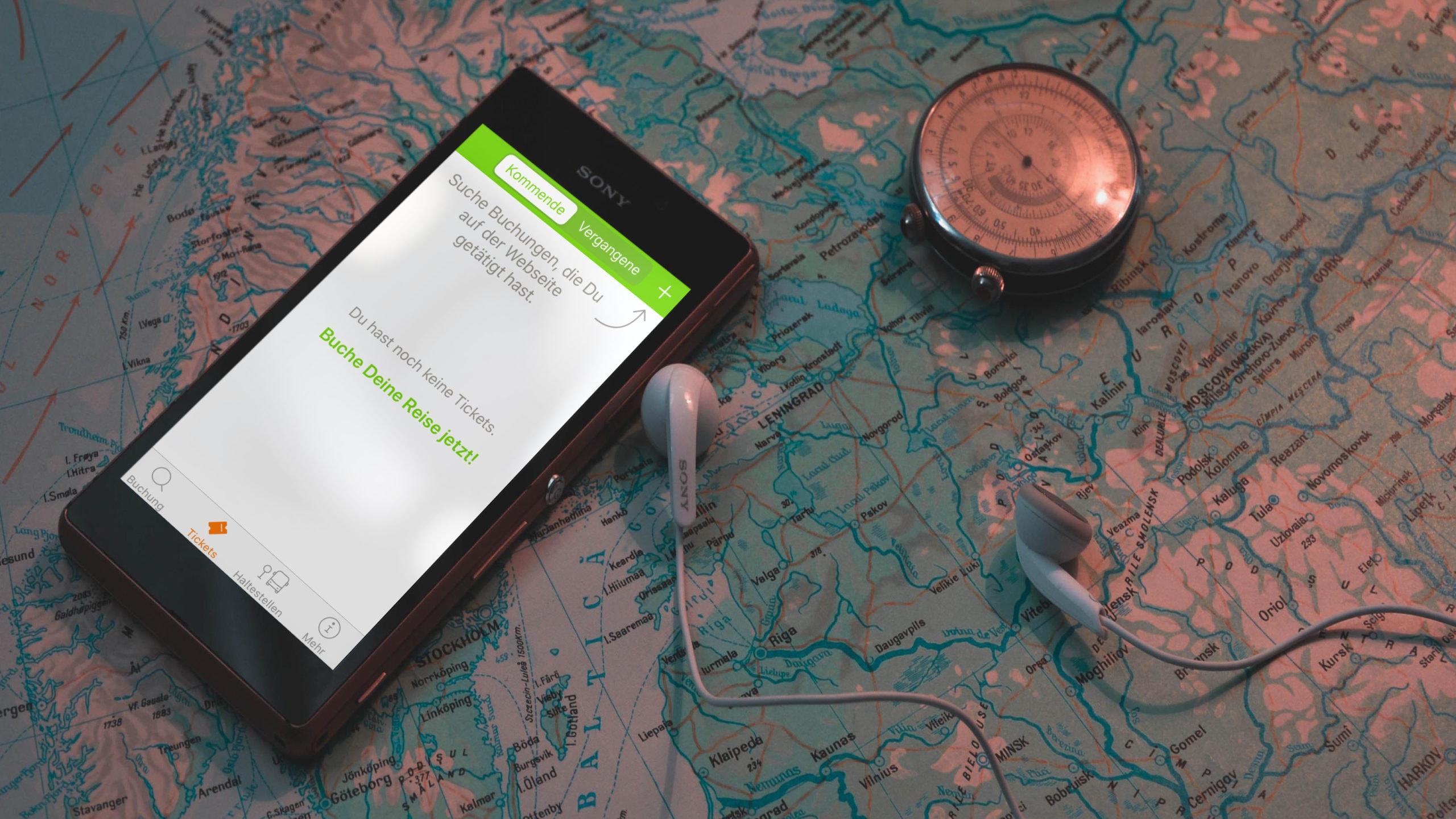 Buchungsverwaltung mit Flixbus App