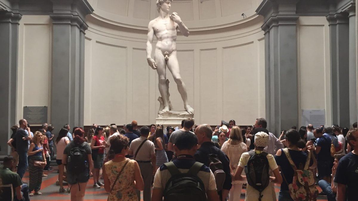 Die Skulptur des David von Michelangelo