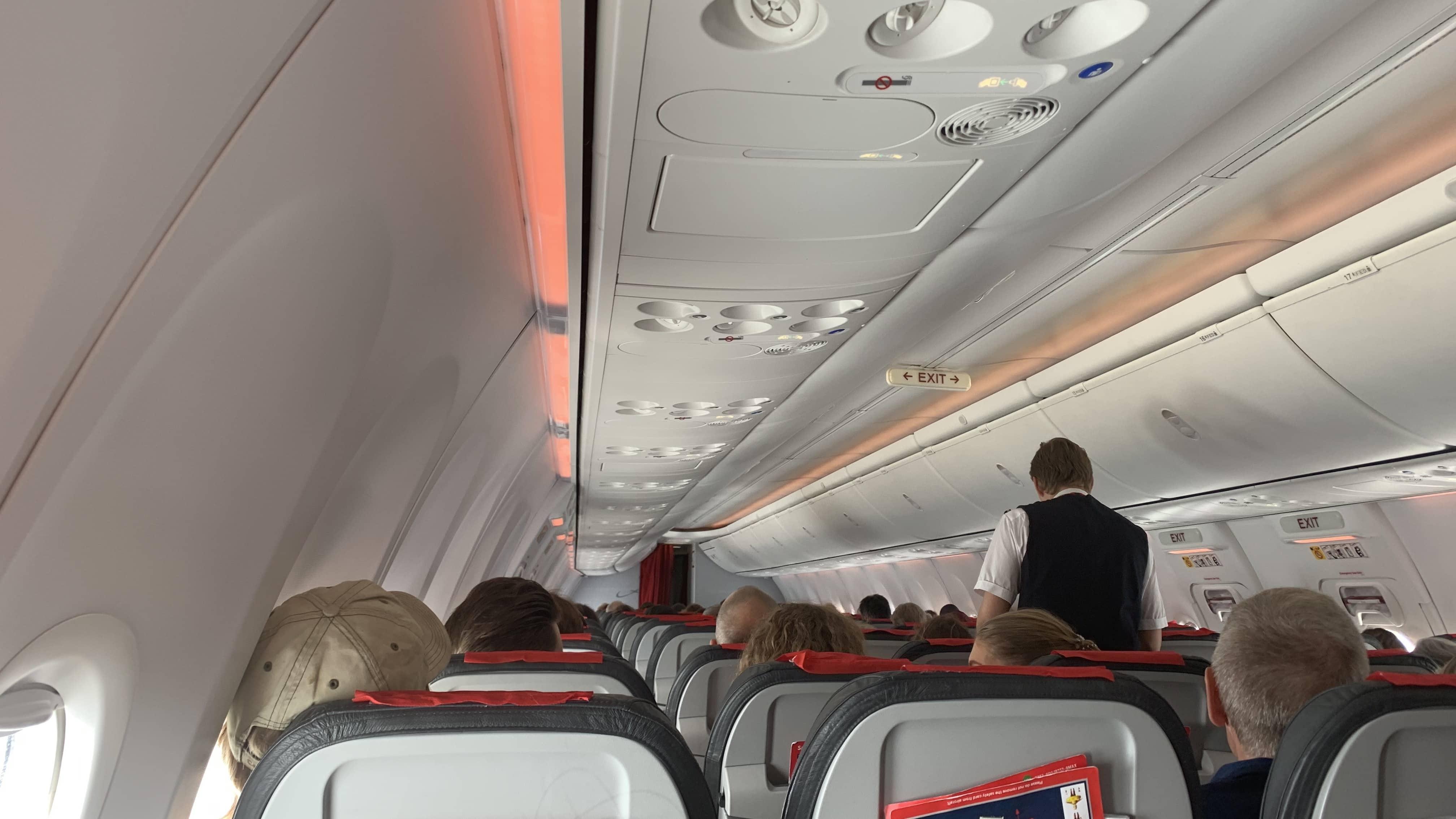 Warten auf den Start im Flugzeug