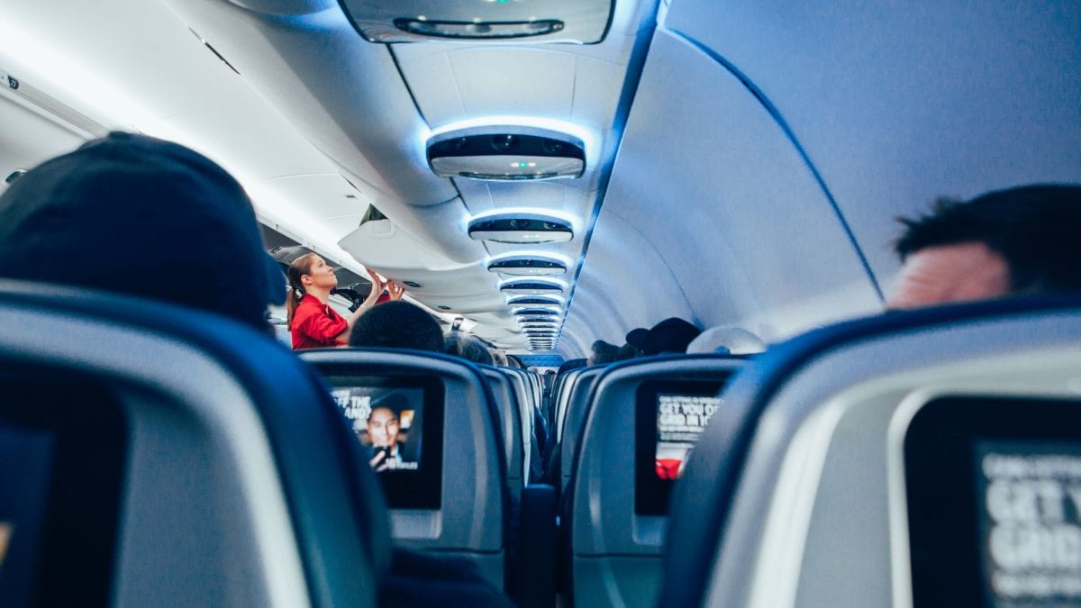 Flugzeugkabine - Hier wird der Druckausgleich zum Problem