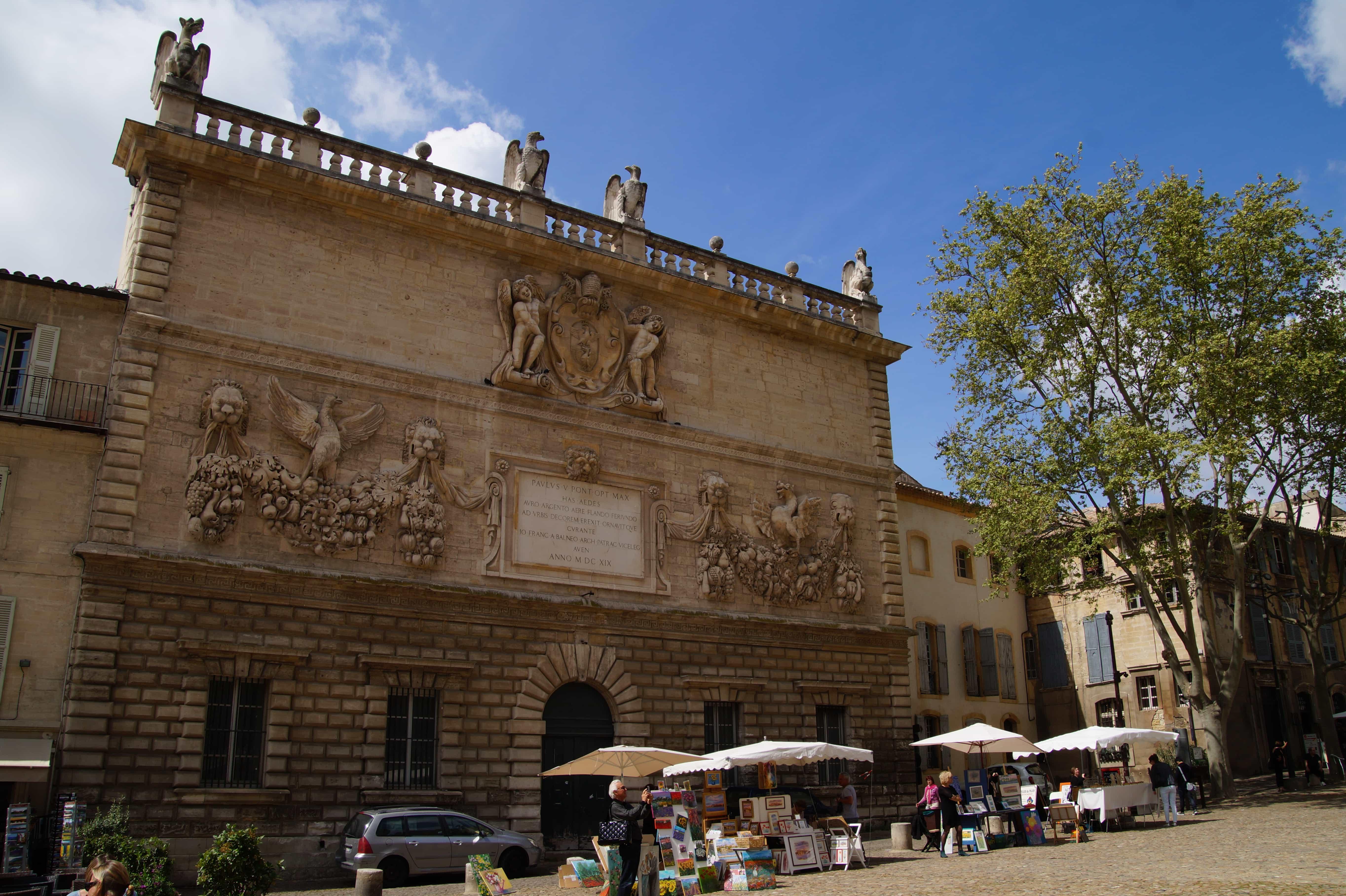 Gebäude in Avignon in Frankreich