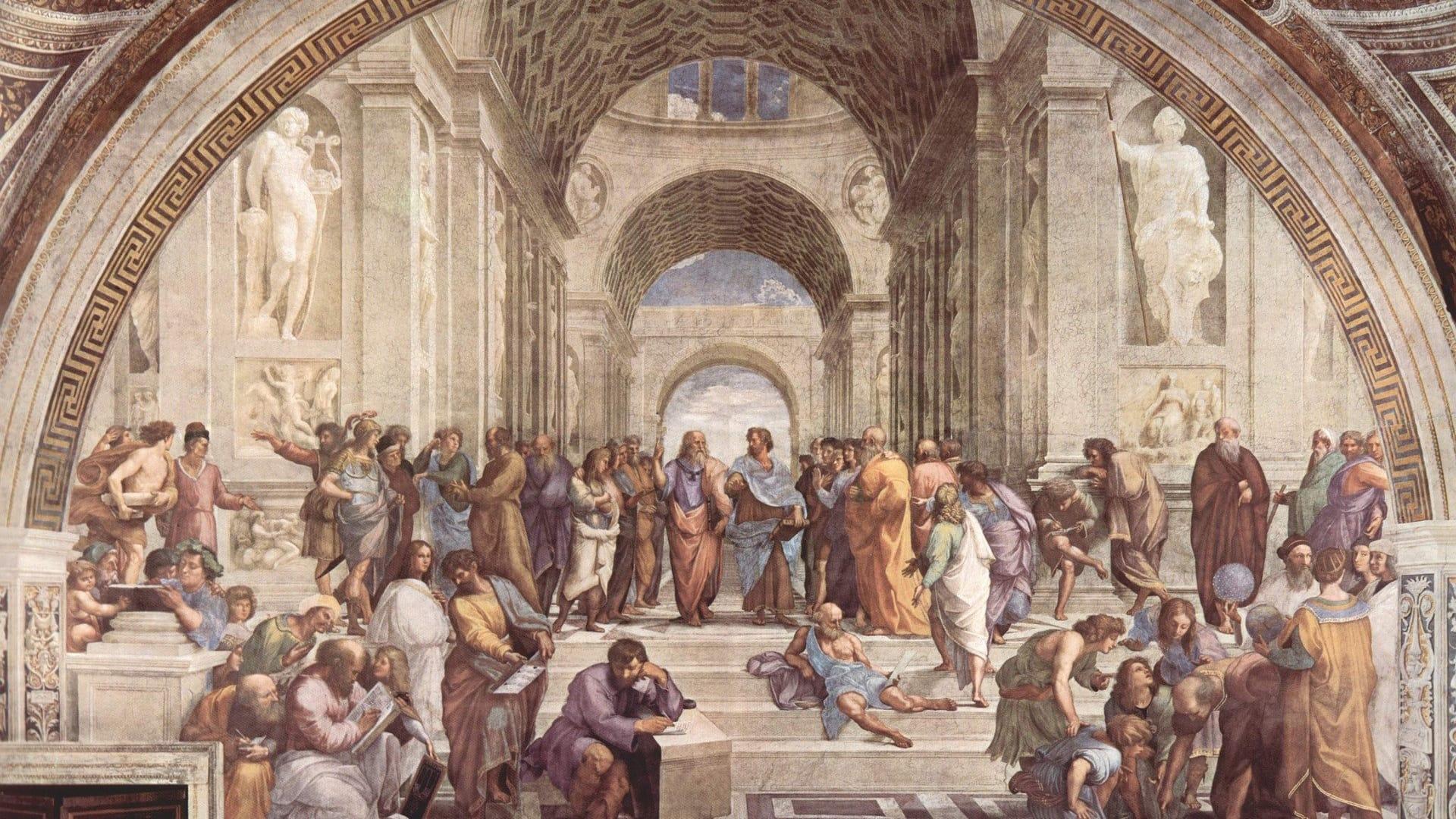 Das Werk Die Kunstschule von Athen des Malers Raffael ist ein bedeutendes Kunstwerk der Weltkultur.