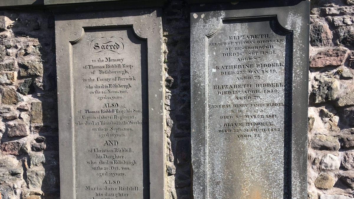 Grabstein von Tom Riddle auf dem Grayfriars Kirkyard in Edinburgh