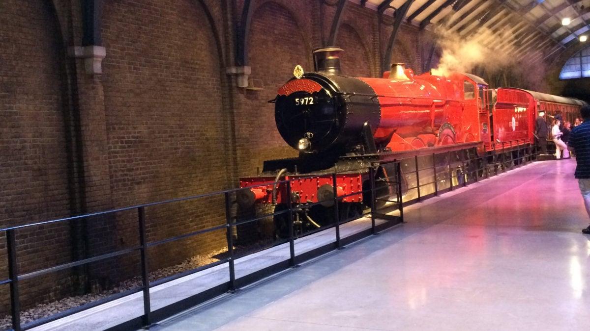 Die Vorderfront des roten Hogwartsexpress