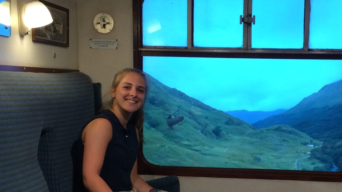 Julia im Hogwartsexpress