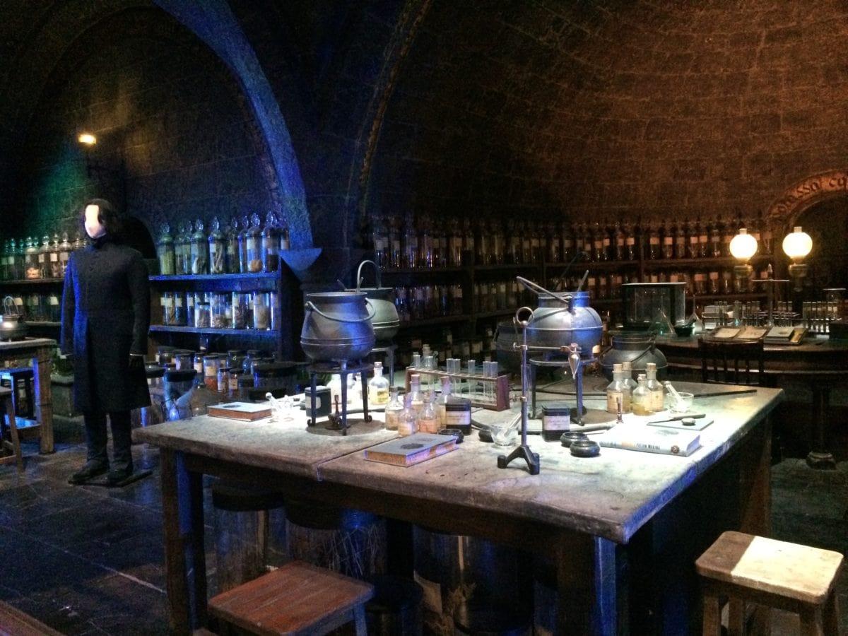 Klassenraum für Zaubertränke in Hogwarts