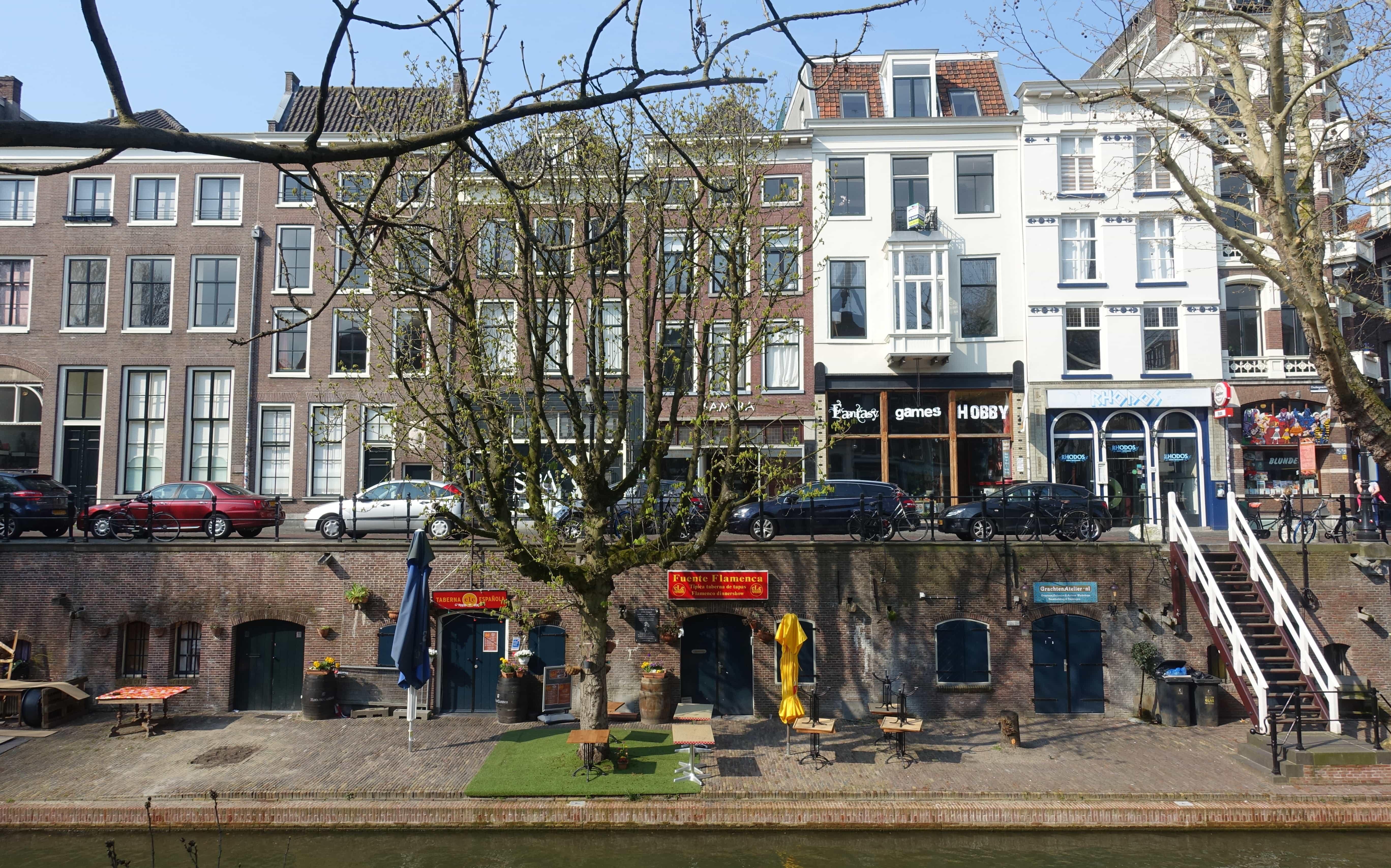 Restaurants in Utrecht an der Oudegracht in Holland