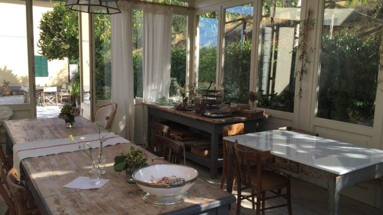 Die Küche im Hotel Valdirose in der Toskana