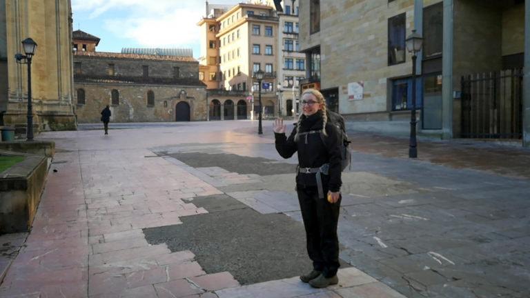 Vor der ersten Etappe des Jakobsweges in Oviedo