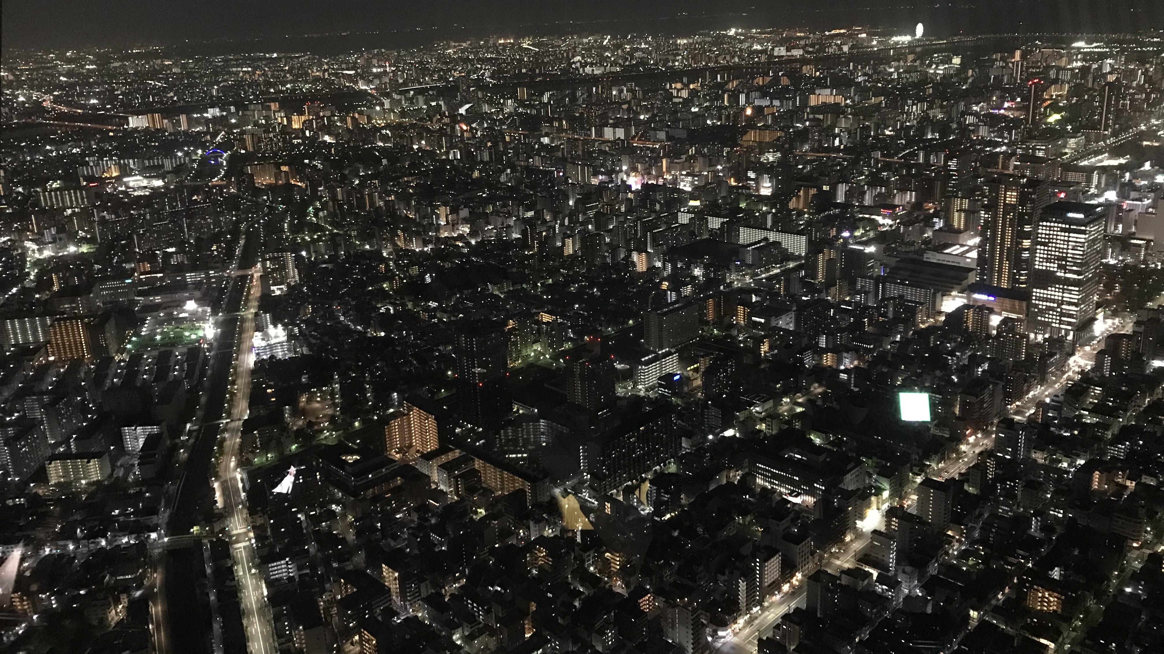 Tokio vom Sky Tree bei Nacht