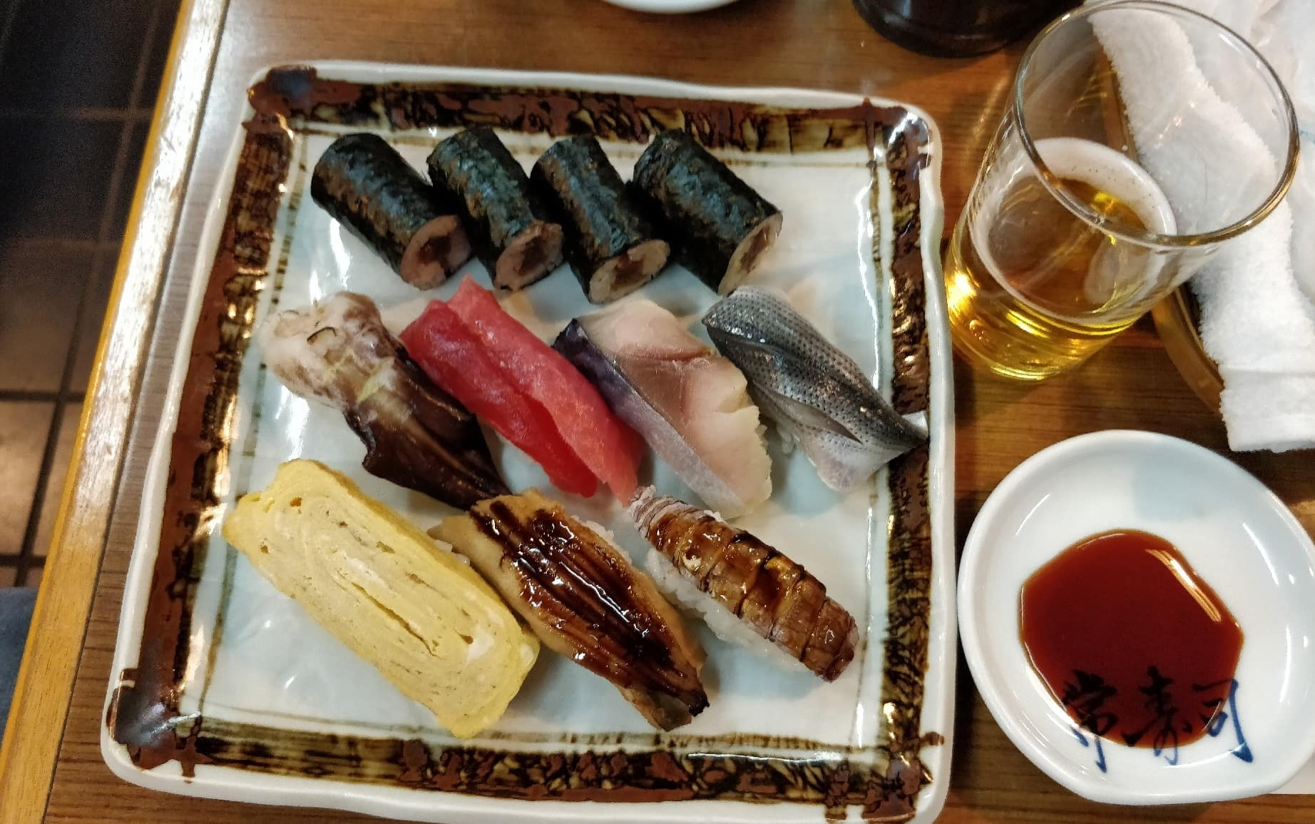 Sushi in Asakusa in Tokio Japan
