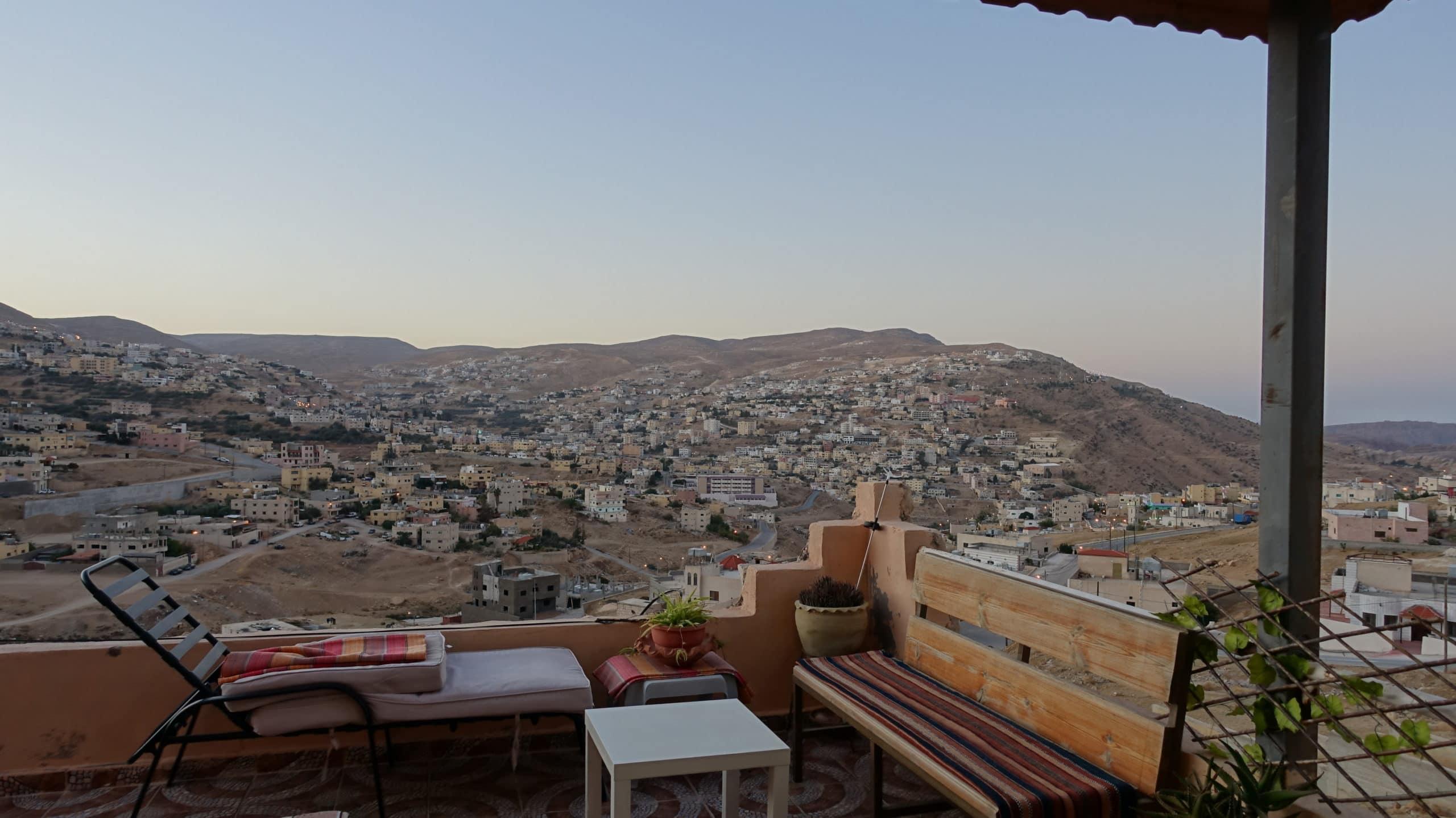 Aussicht von der Pension in Wadimusa in Jordanien