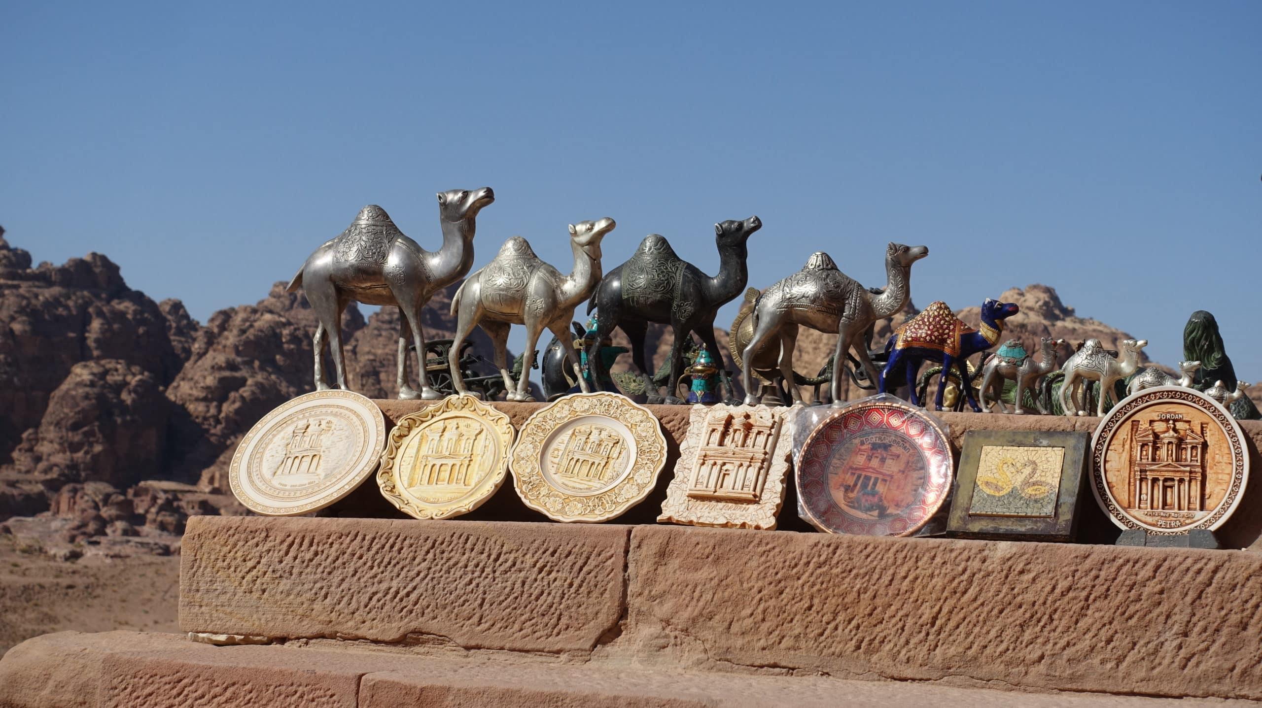 Souveniers in Petra in Jordanien