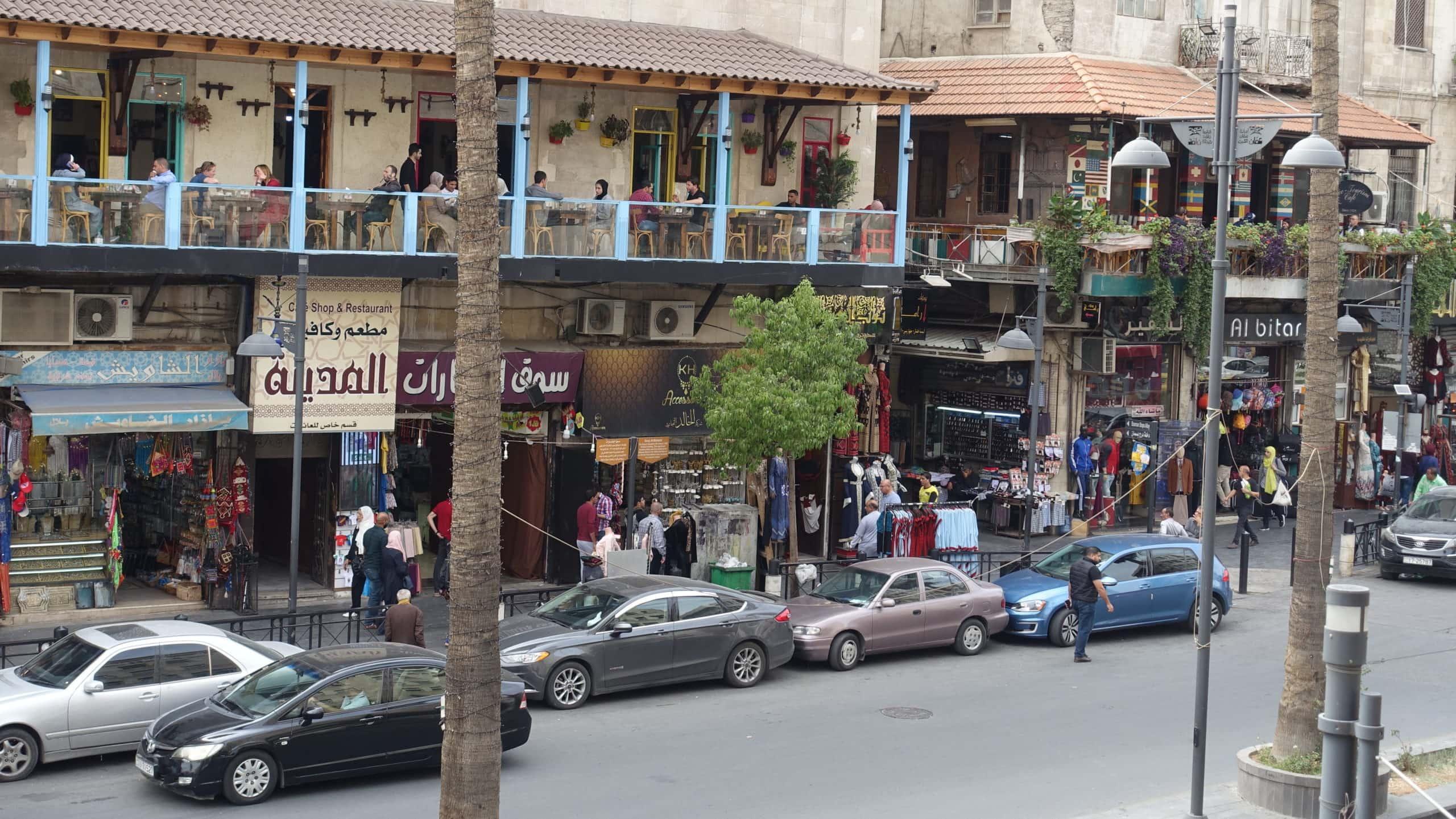 Straßenszene in Amman in Jordanien