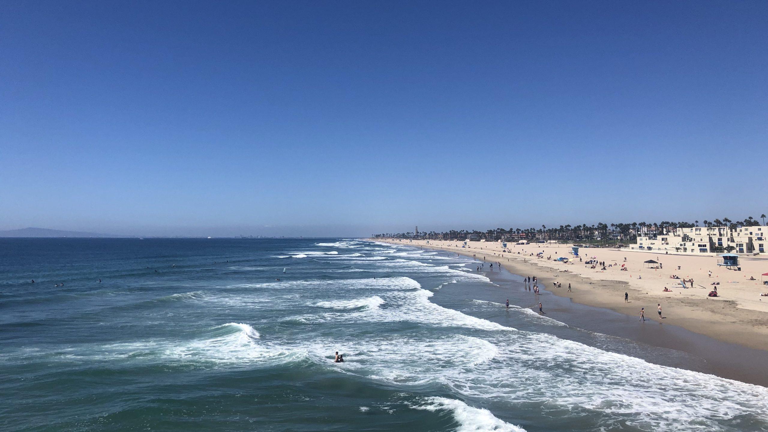 Der Huntington Beach in Kalifornien