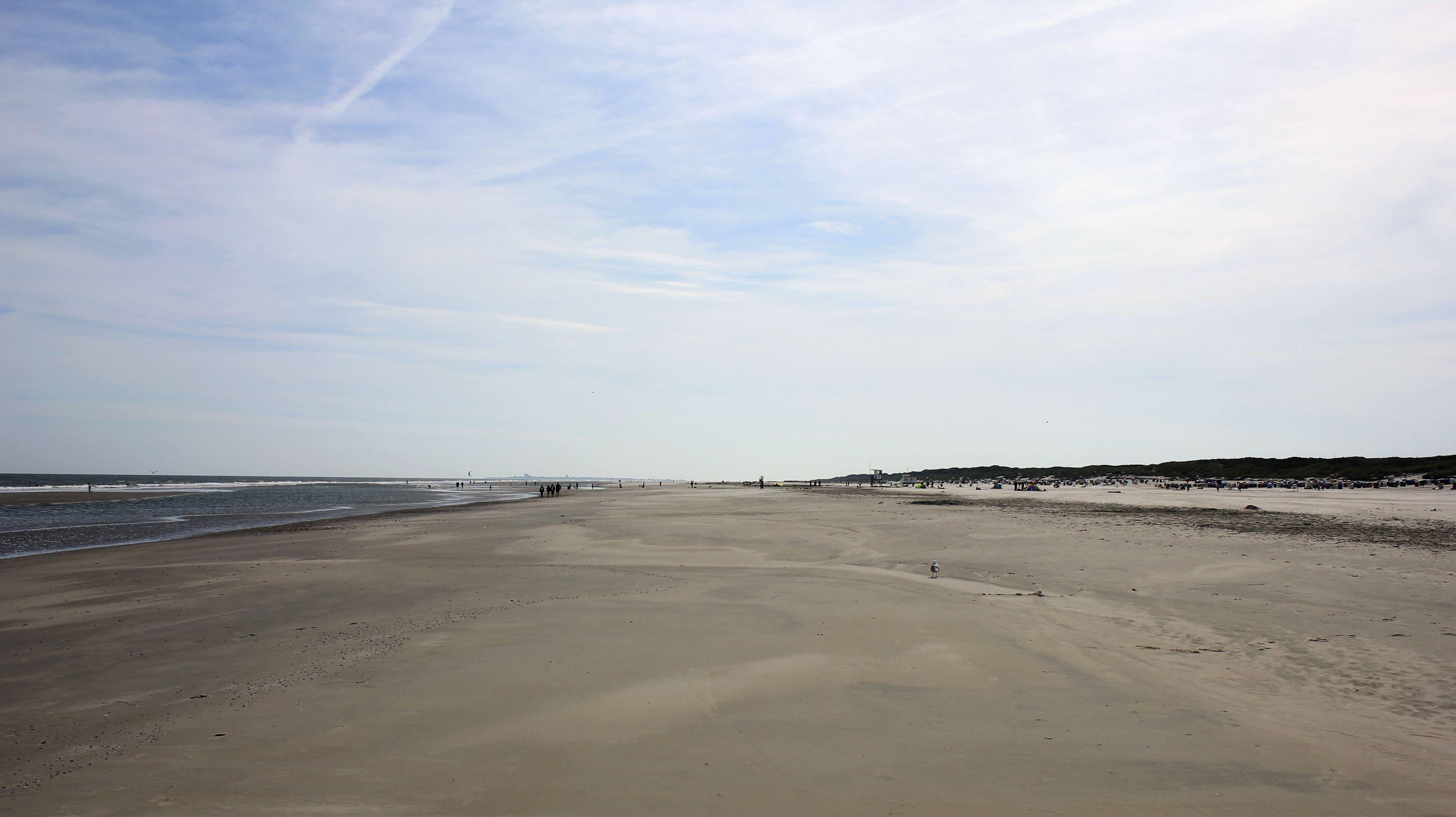 Wohin man auf Juist auch blickt: Man sieht fast immer nur Strand.