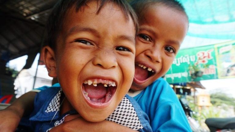 Kinder in Kambodscha