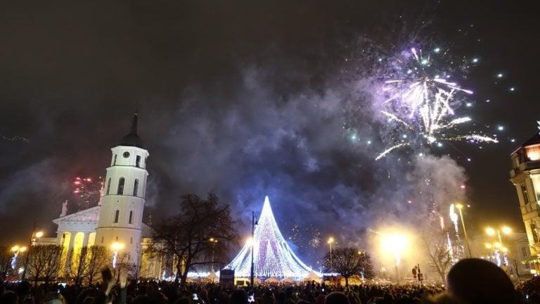 Silvesterhimmel über Vilnius