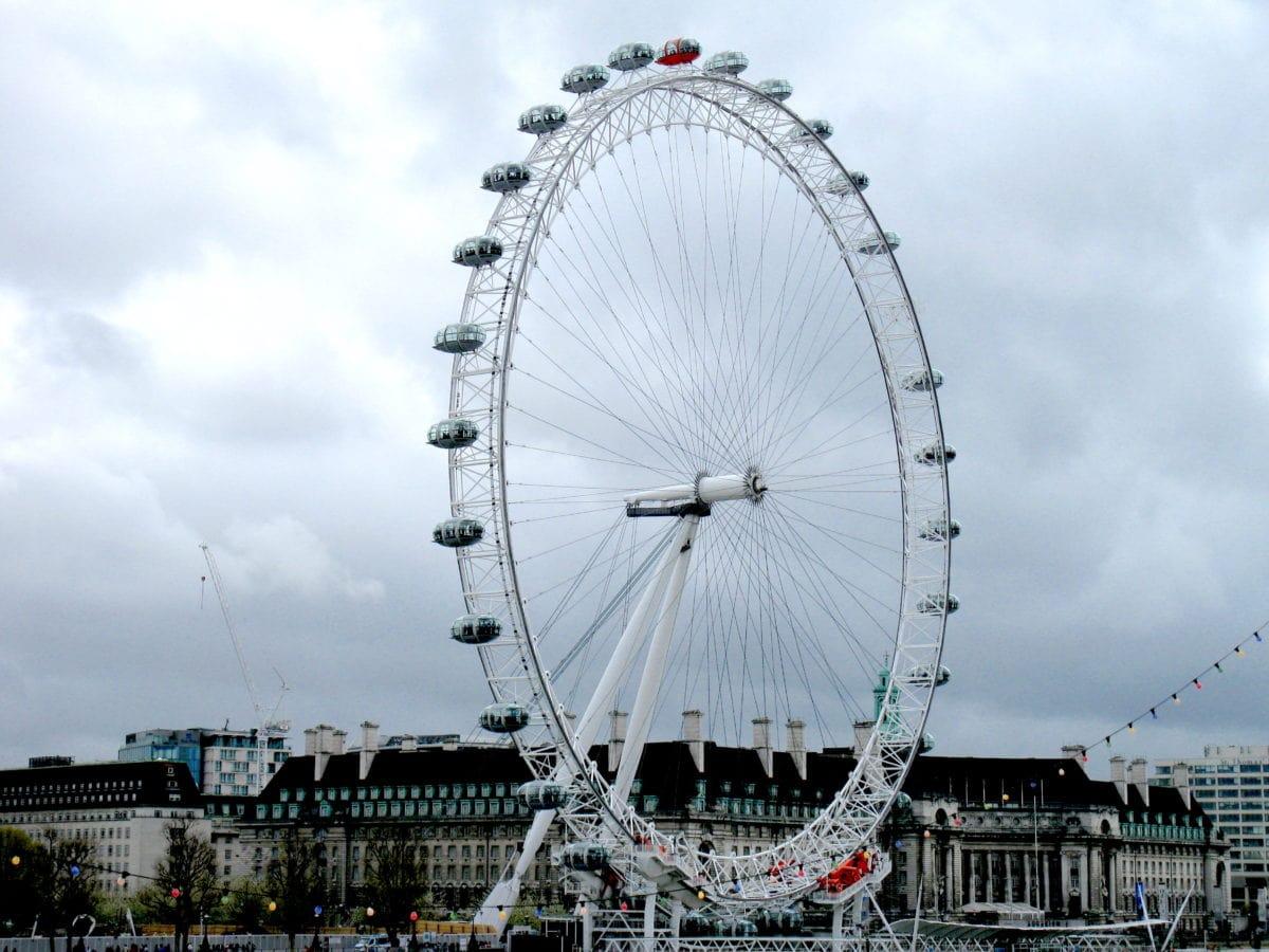 Das Riesenrad London Eye an der Themse