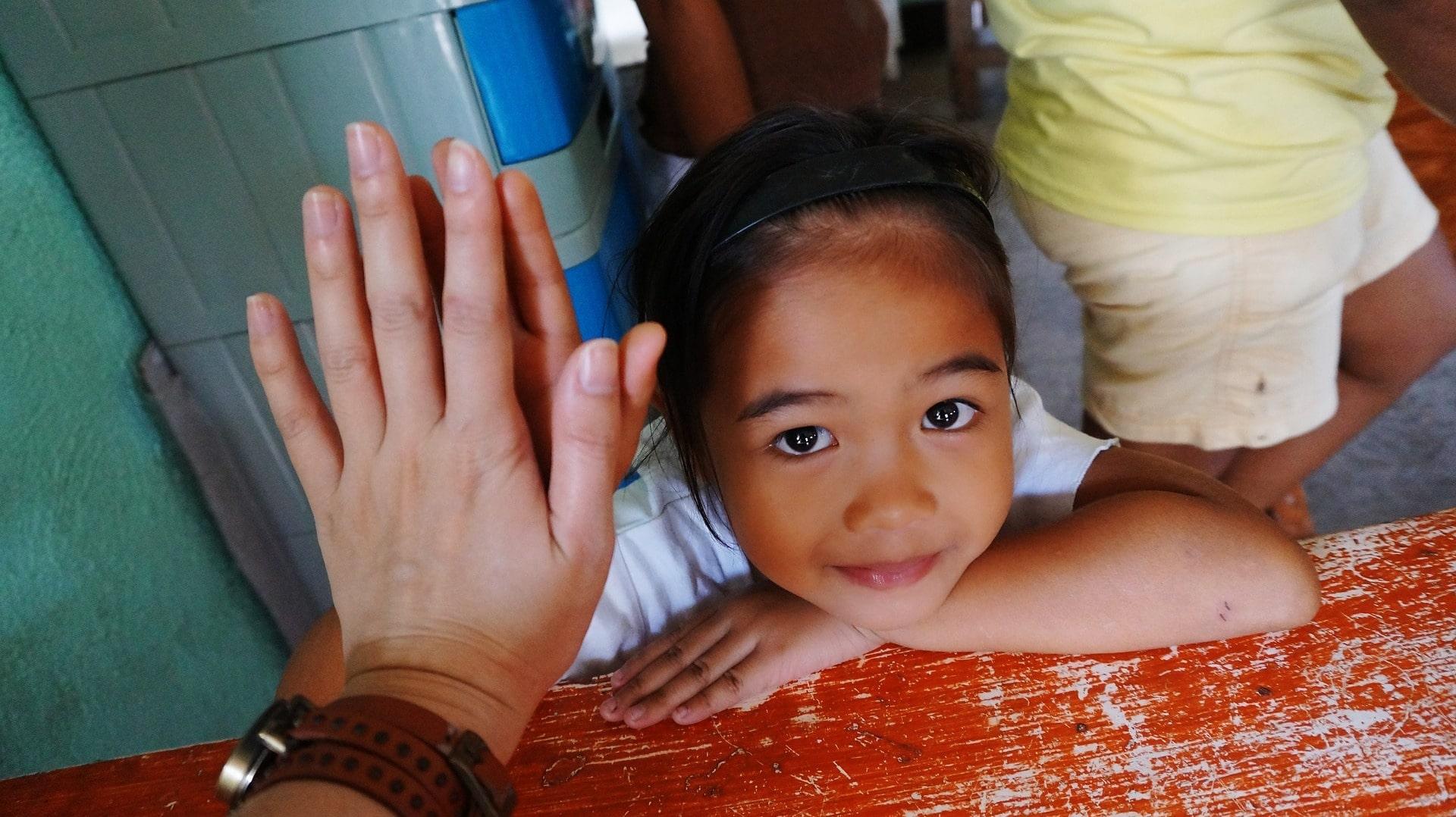 Mädchen auf den Philippinen