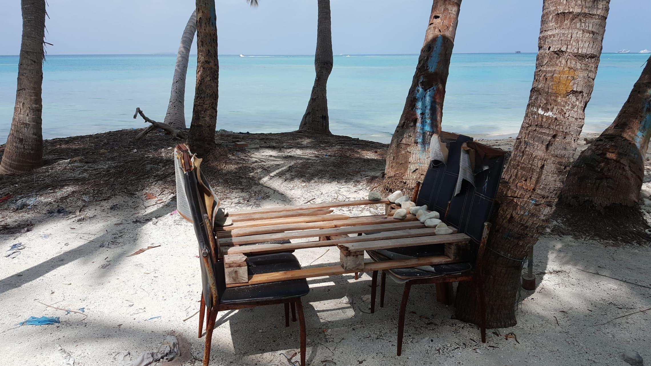 Insel der Einheimischen auf den Malediven