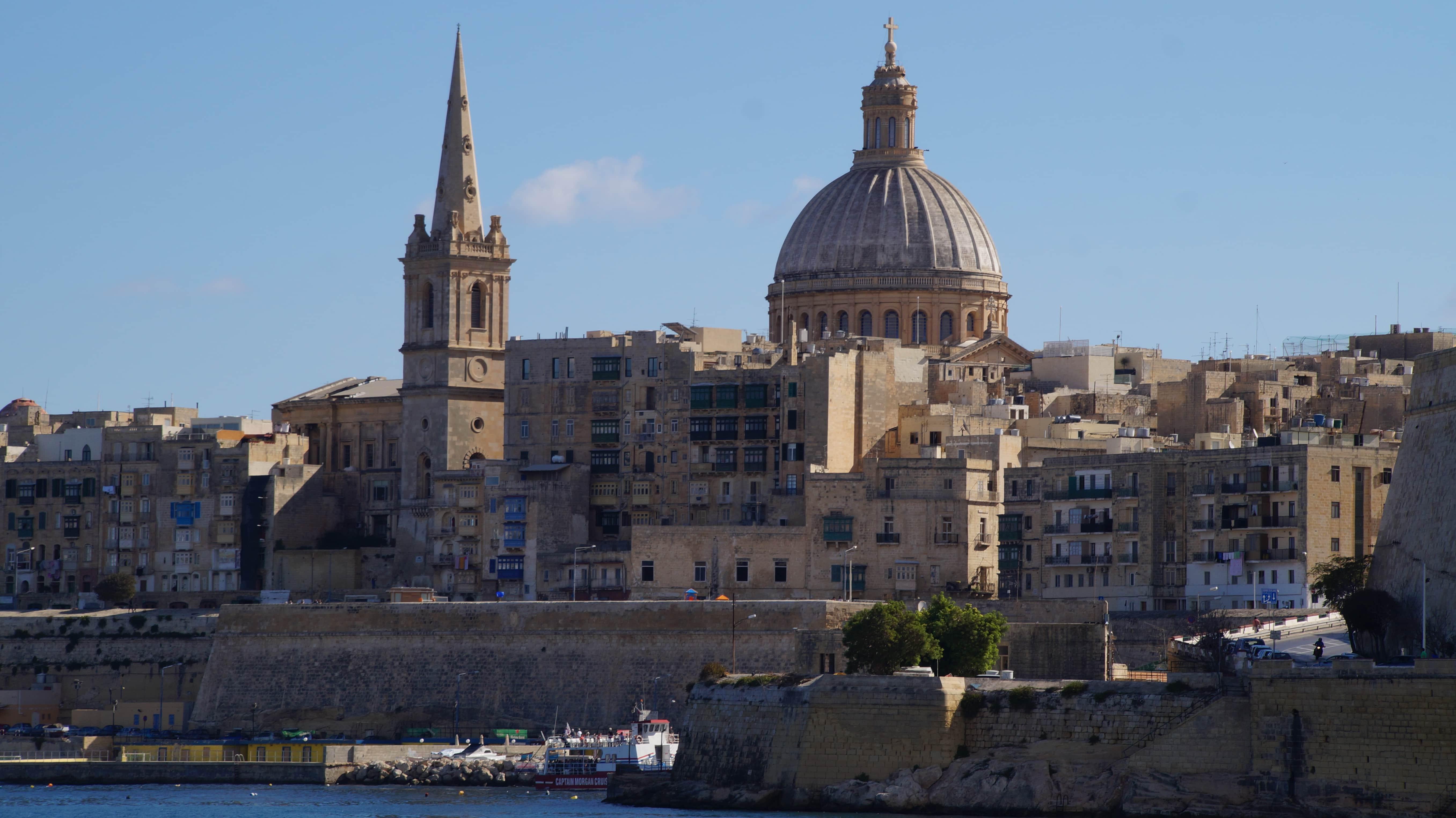 Die Altstadt von Valetta auf Malta